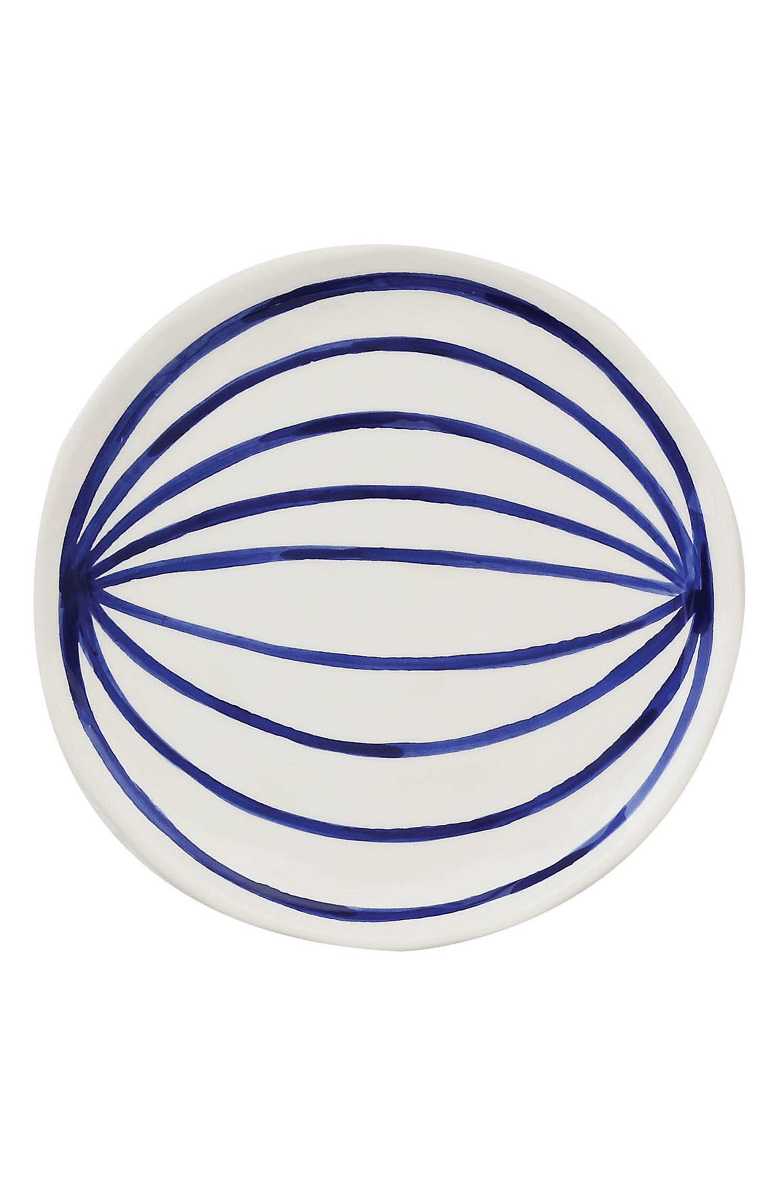 Hand Painted Ceramic Plate,                             Main thumbnail 1, color,                             Blue