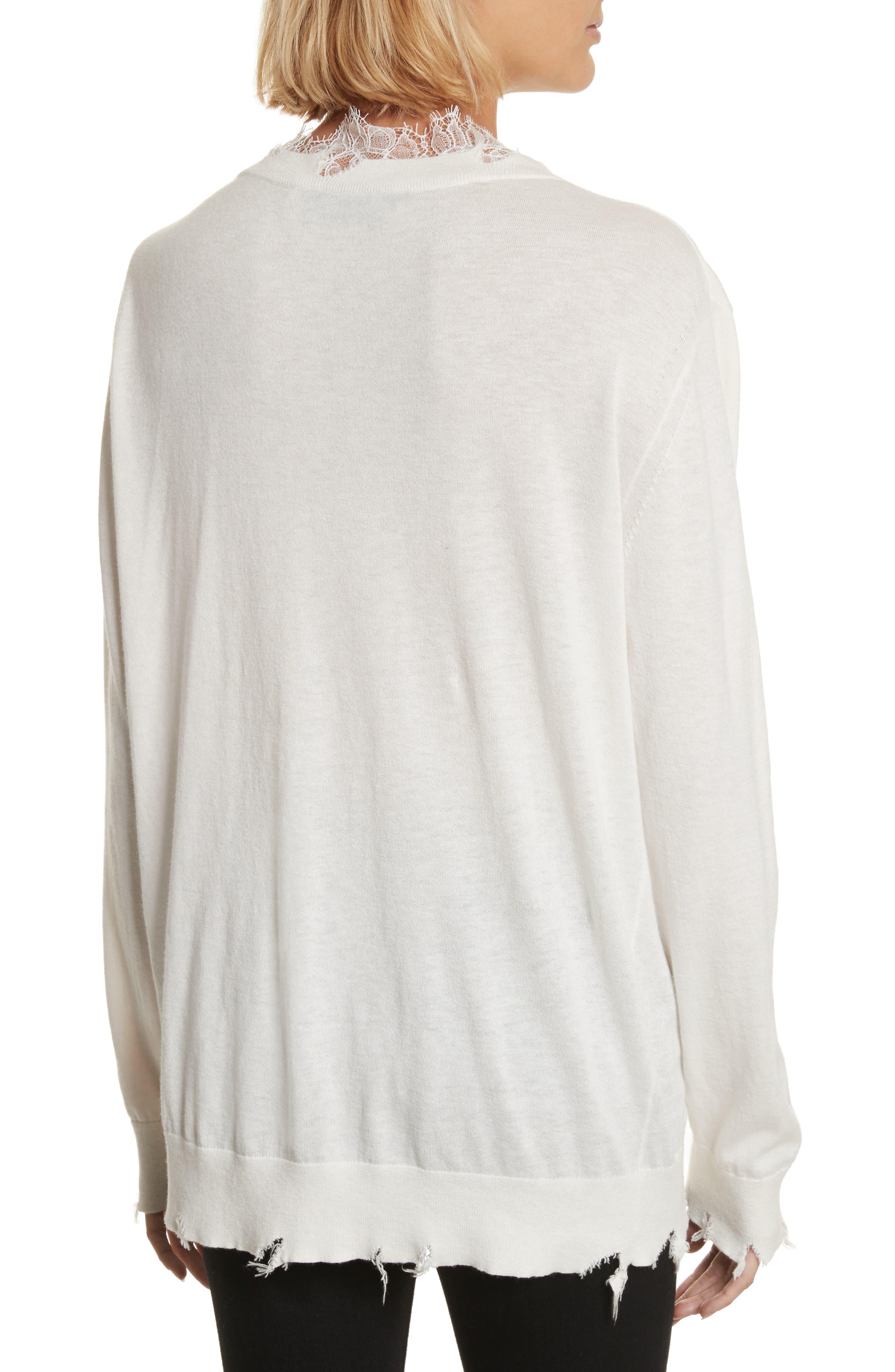 Alternate Image 2  - IRO Pao Lace Trim Destroyed Sweater
