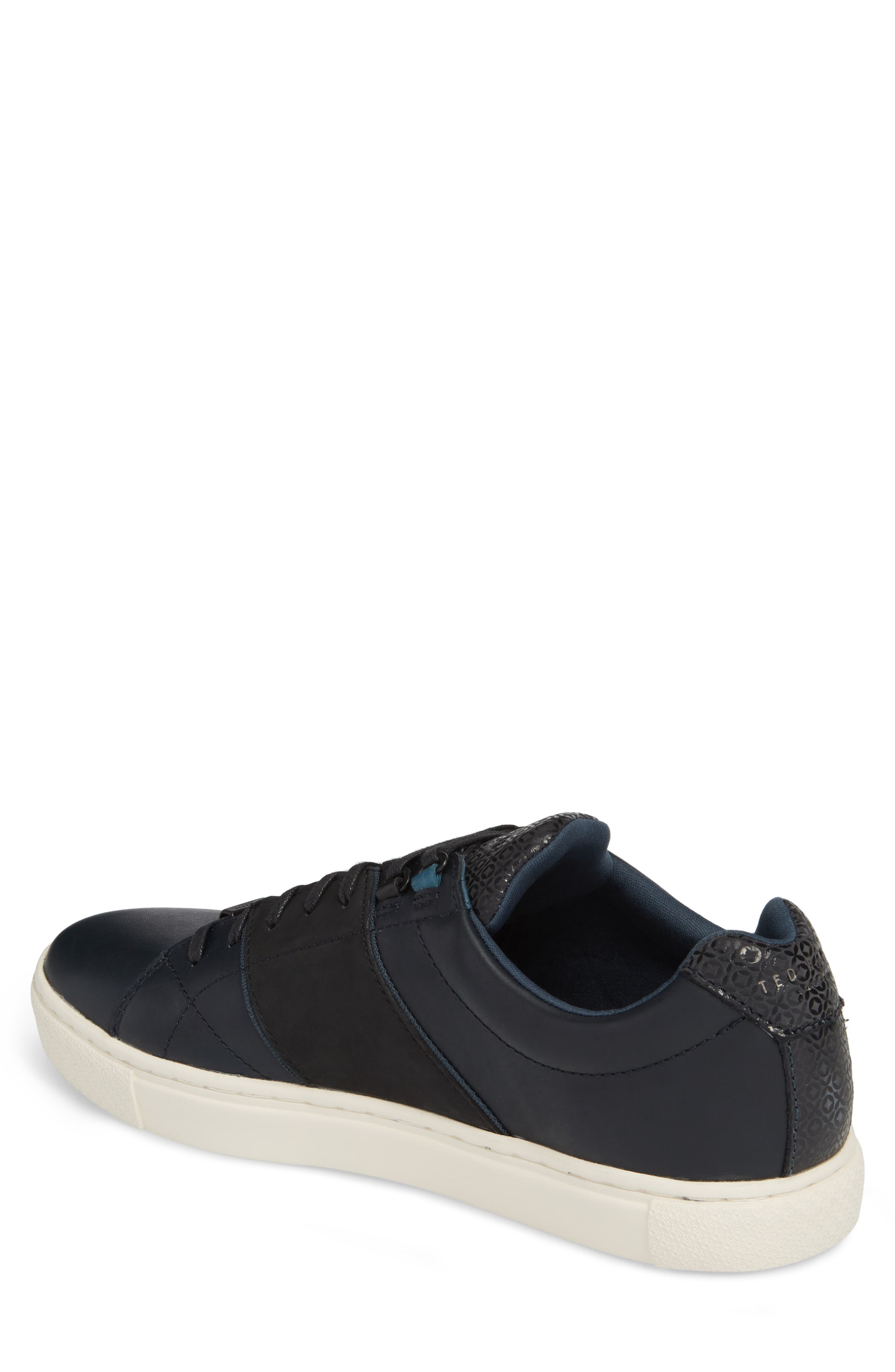 Ted Baker Quana Low Top Sneaker,                             Alternate thumbnail 2, color,                             Dark Blue Leather