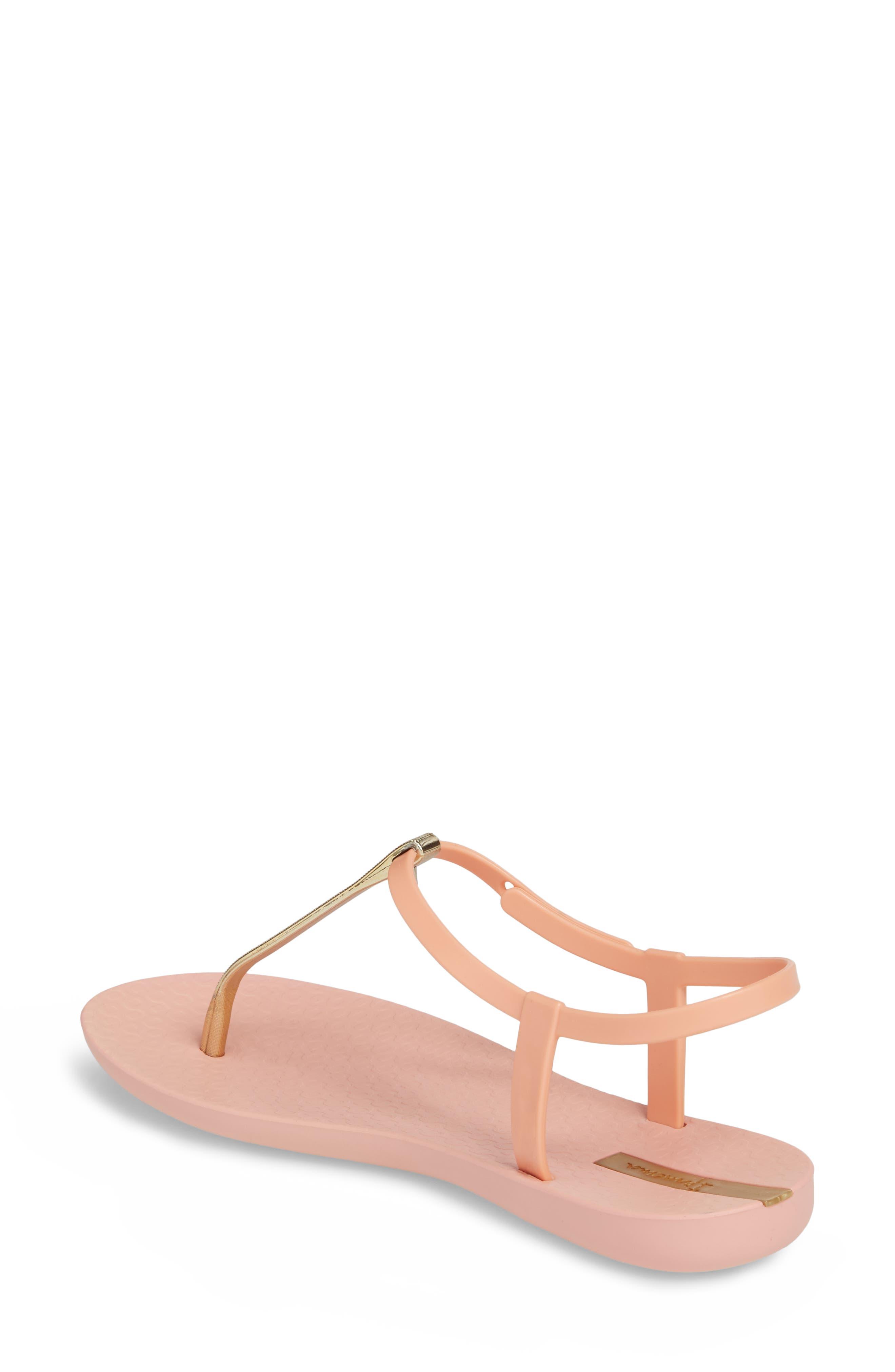 Bandeau Sandal,                             Alternate thumbnail 2, color,                             Pink/ Gold