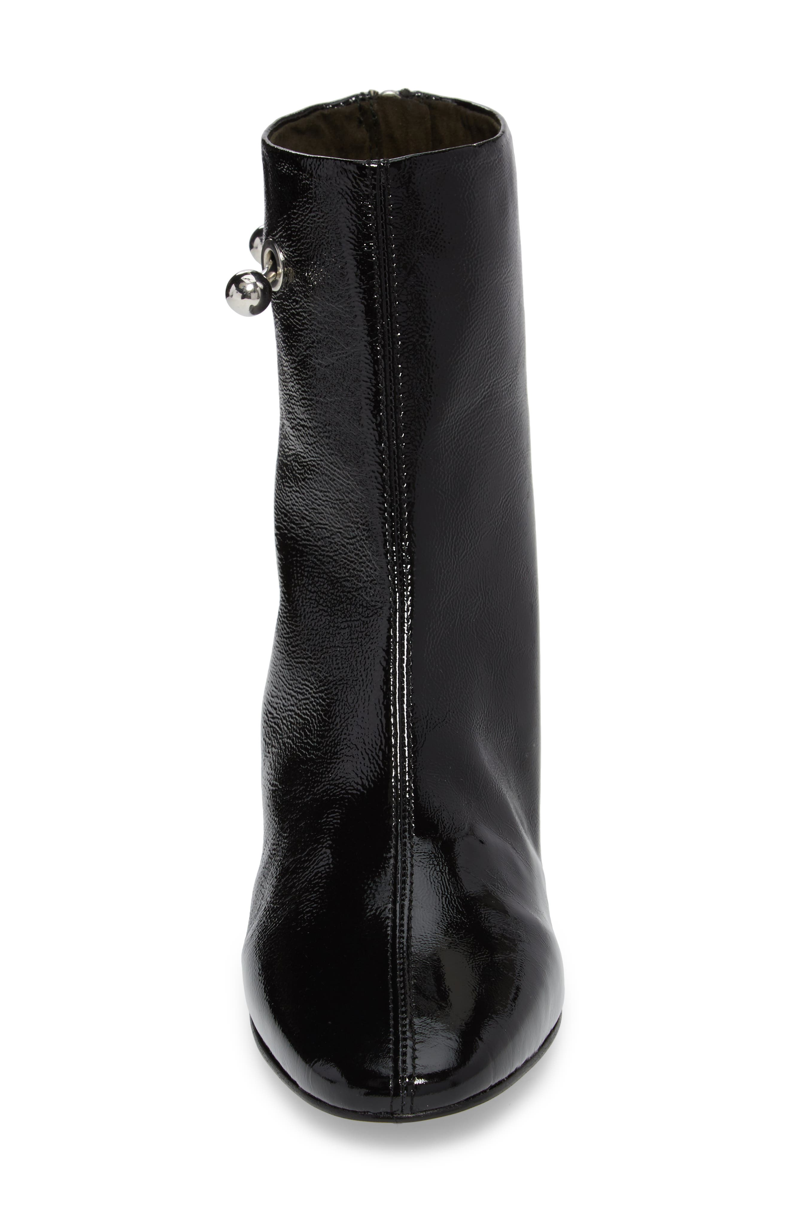 Mighty Flared Heel Bootie,                             Alternate thumbnail 4, color,                             Black