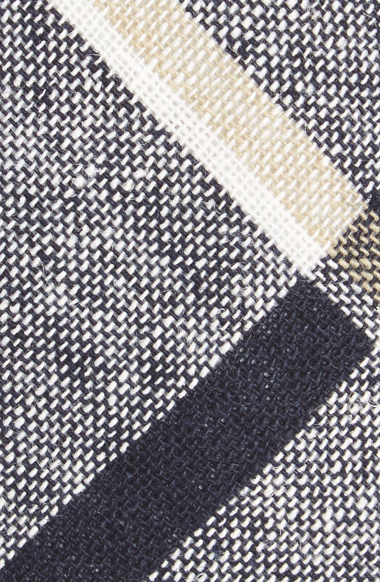 Newport Check Tie,                             Alternate thumbnail 2, color,                             Navy
