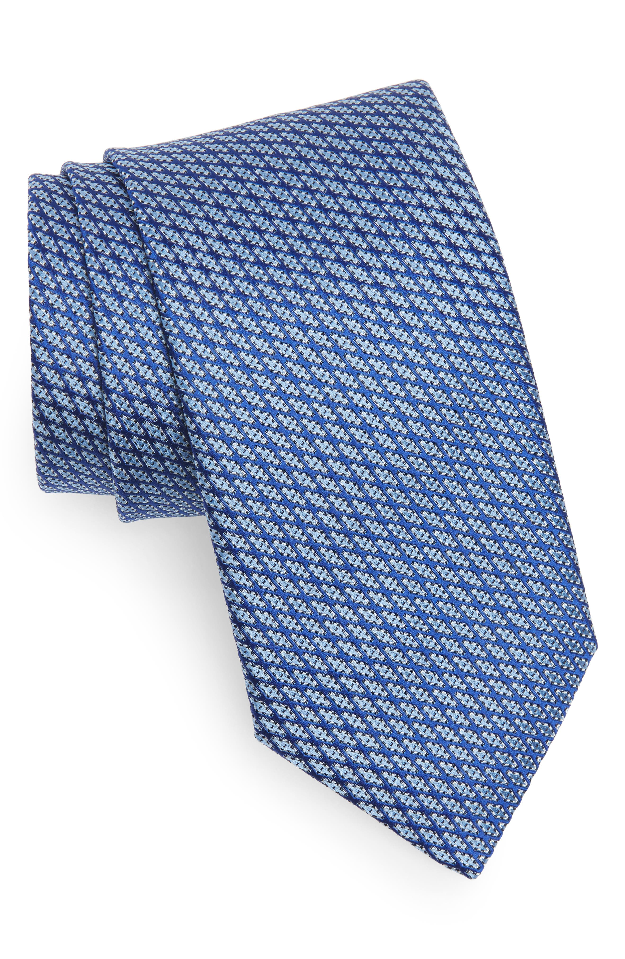 Alternate Image 1 Selected - Canali Neat Silk Tie
