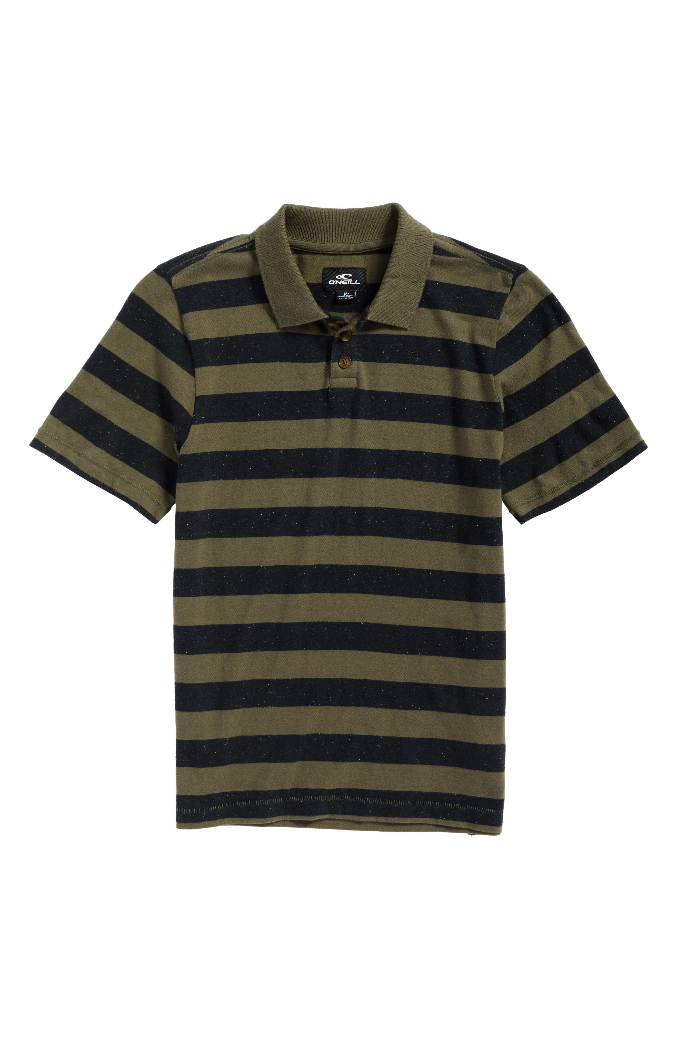 Scoundrel Striped Polo,                         Main,                         color, Army Green