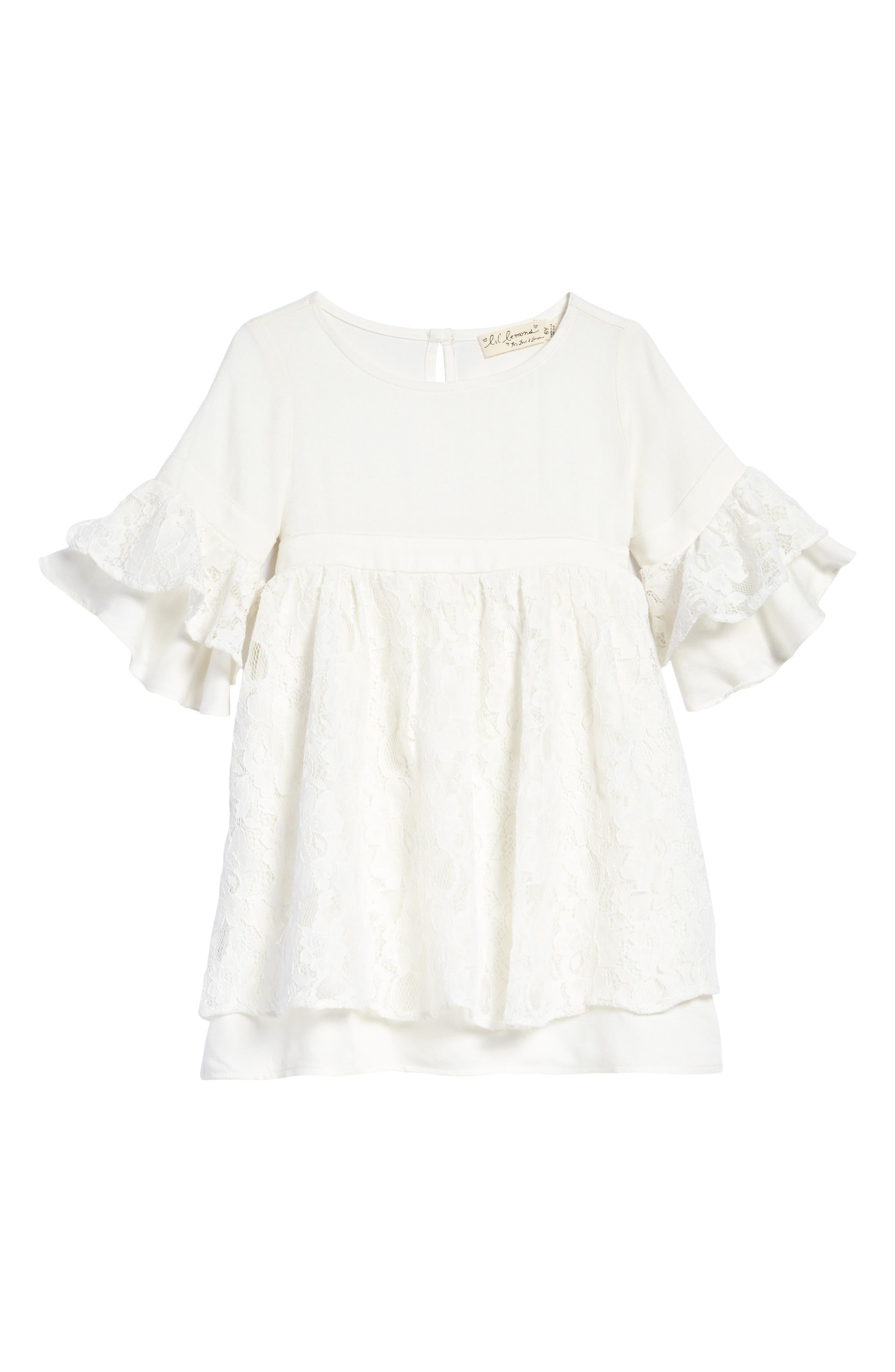 Lyla Lace Dress,                             Main thumbnail 1, color,                             Ivory