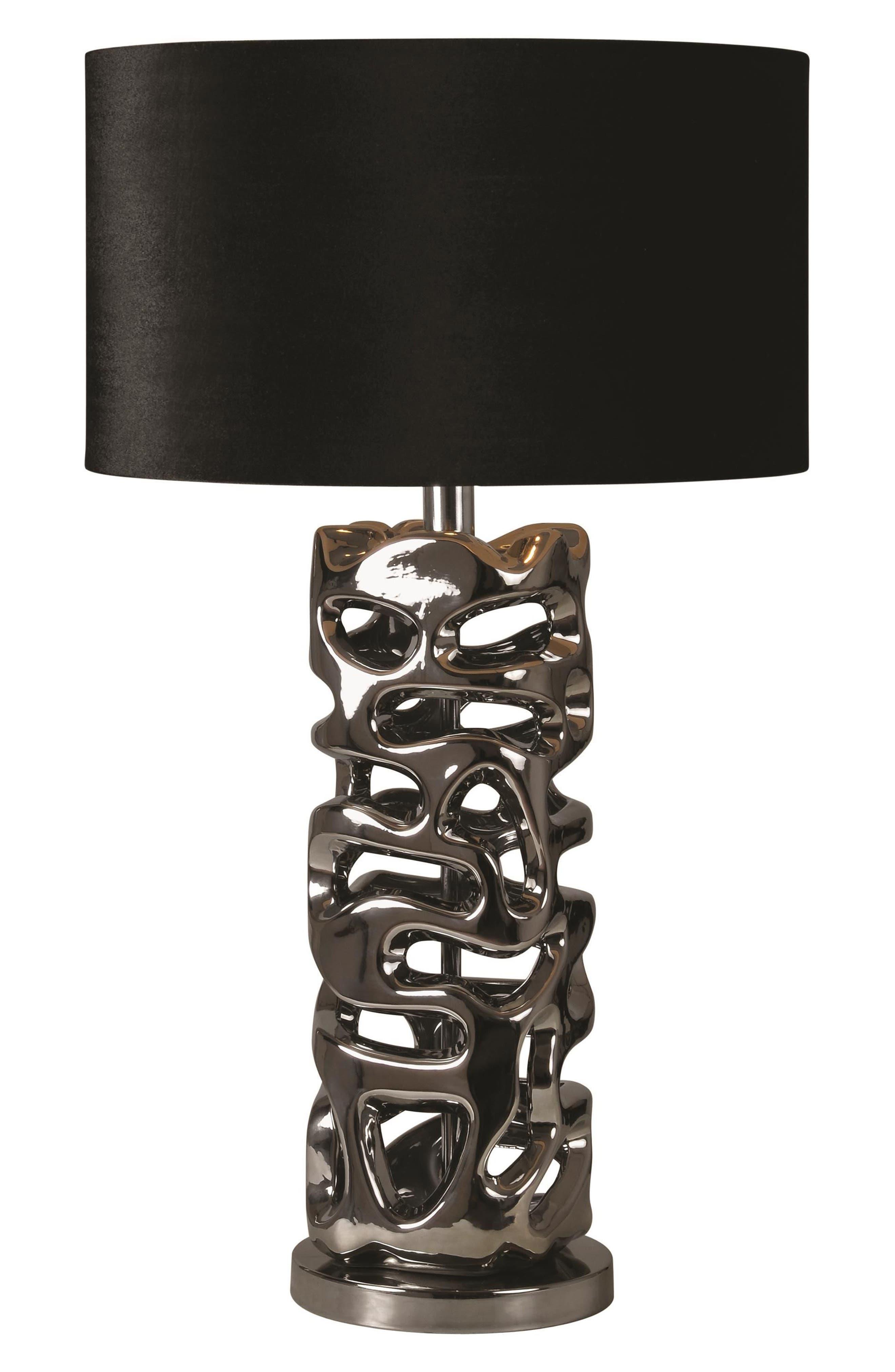Indaba Table Lamp,                         Main,                         color, Chrome