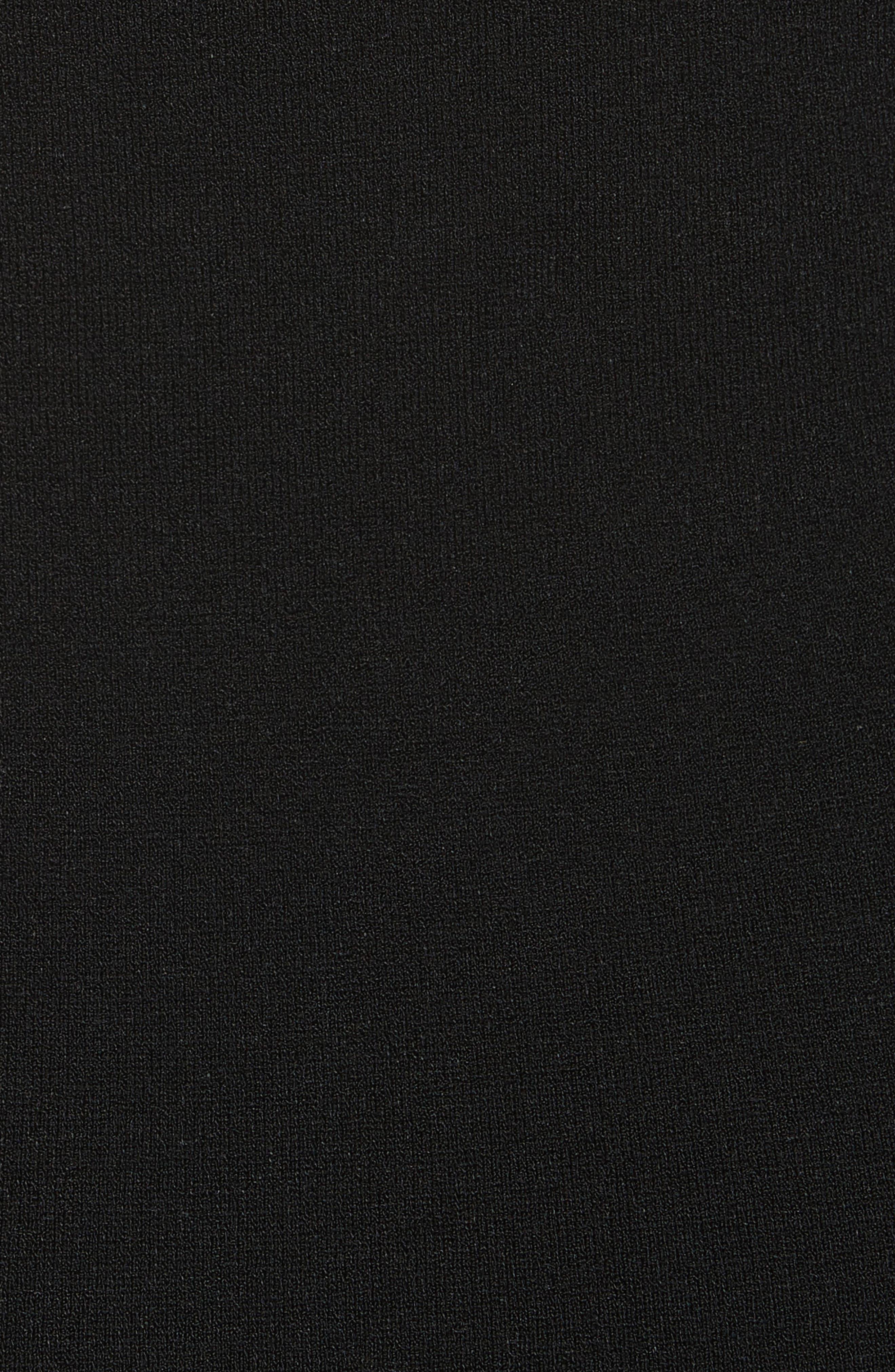 Colorblock Knit Body-Con Dress,                             Alternate thumbnail 5, color,                             Electric Blue/ Black