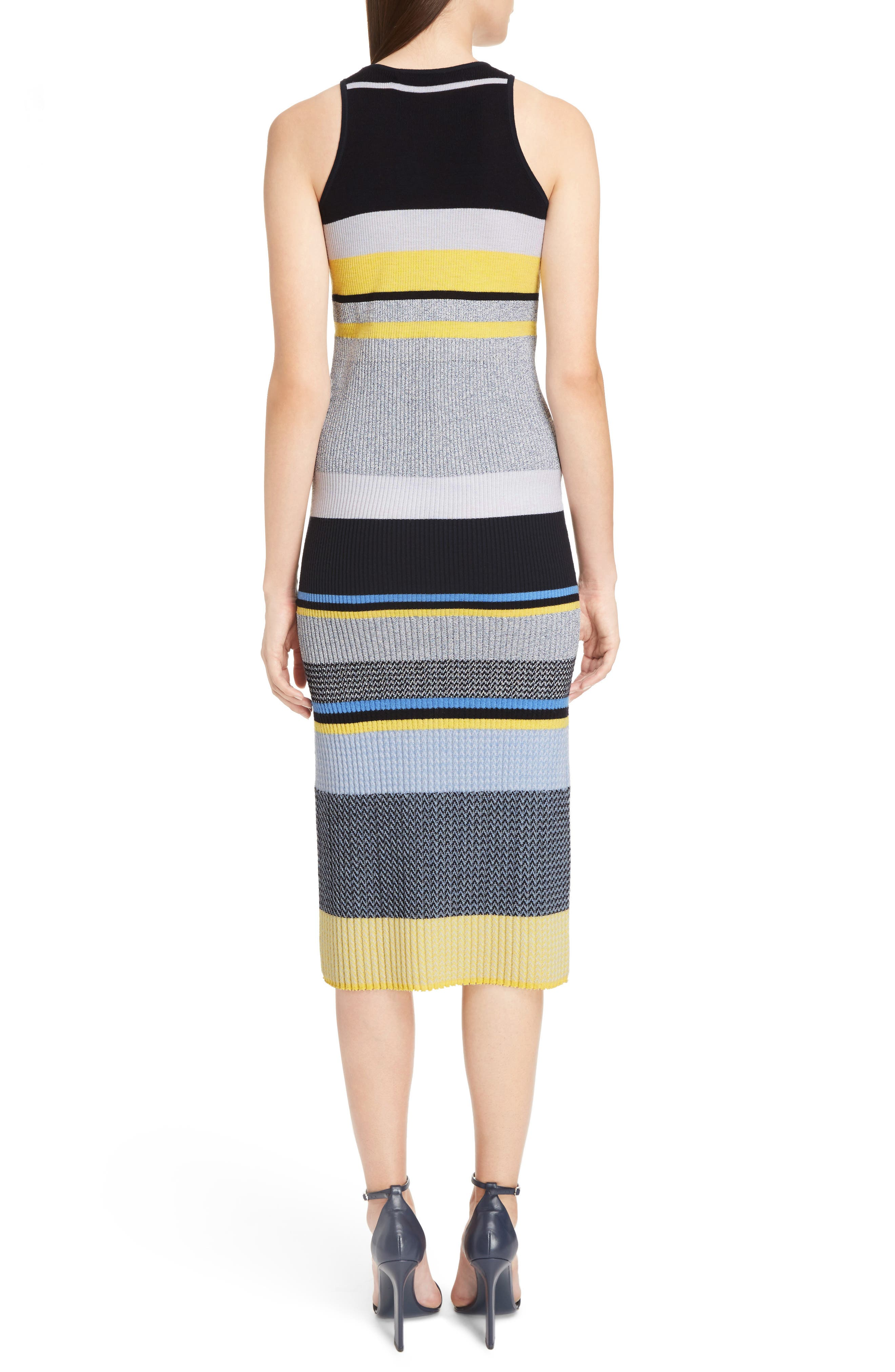 Alternate Image 2  - Victoria, Victoria Beckham Stripe Knit Dress