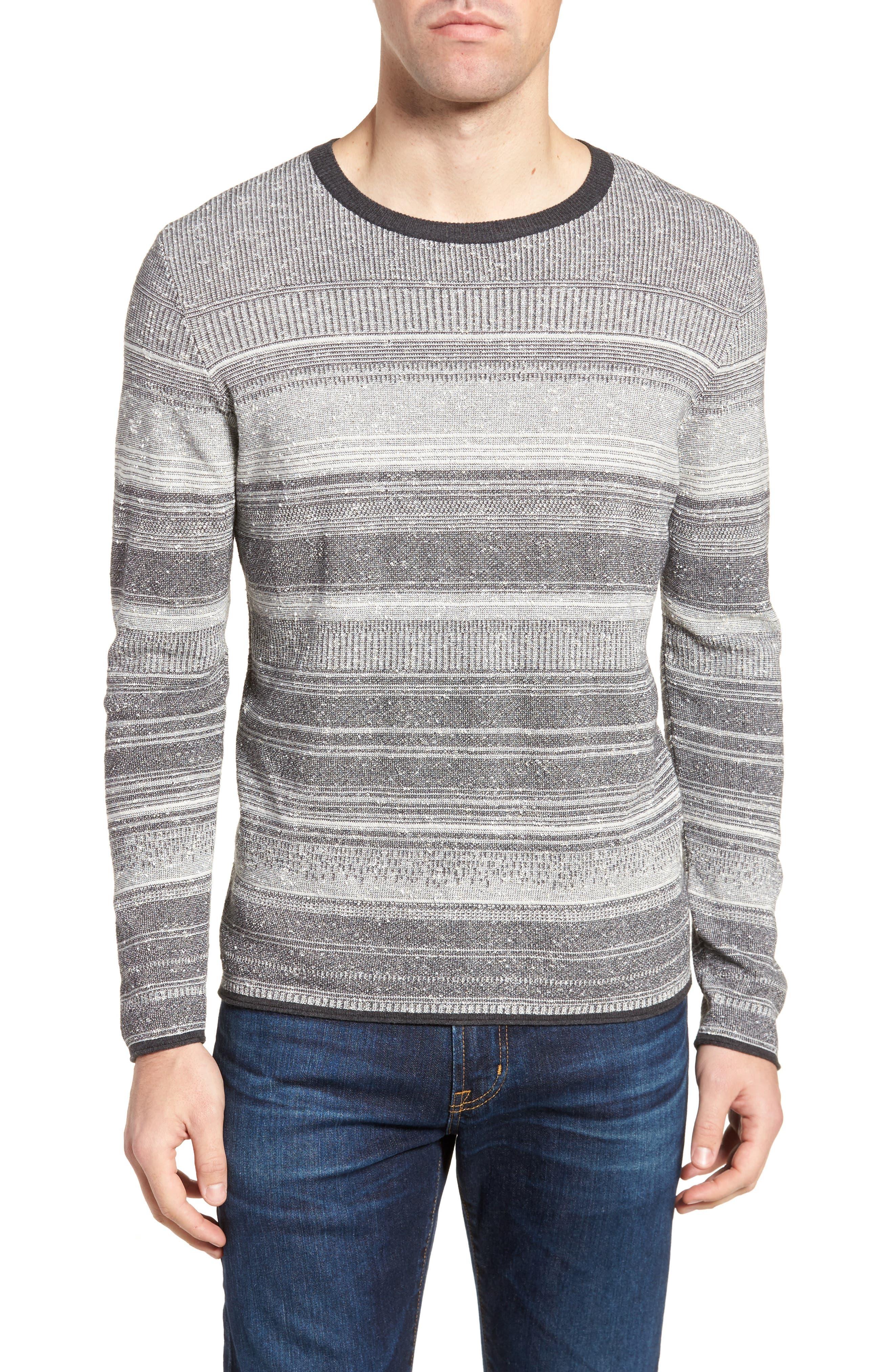 Billy Reid Contrast Trim Stripe Sweater