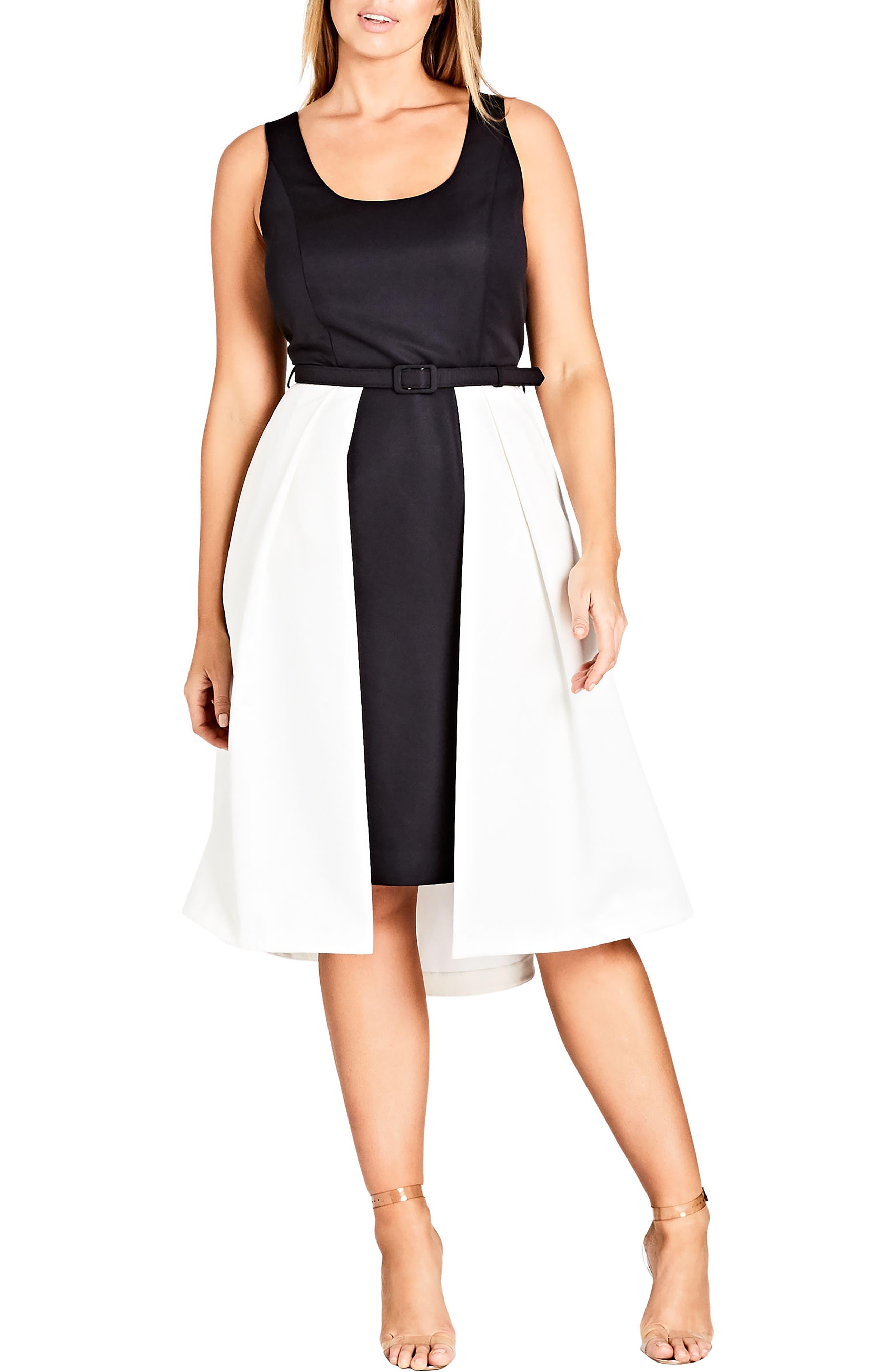 Main Image - City Chic Hepburn Colorblock Dress (Encore)