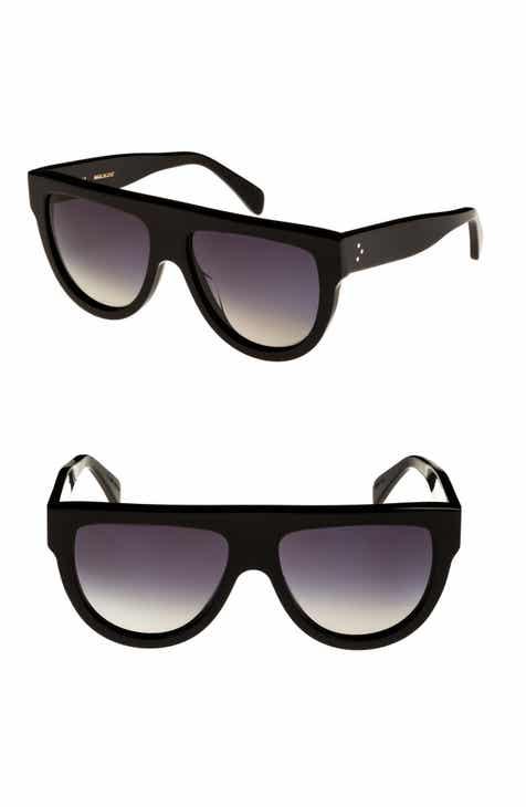 5396f3c505f32 Céline Special Fit 60mm Polarized Gradient Flat Top Sunglasses
