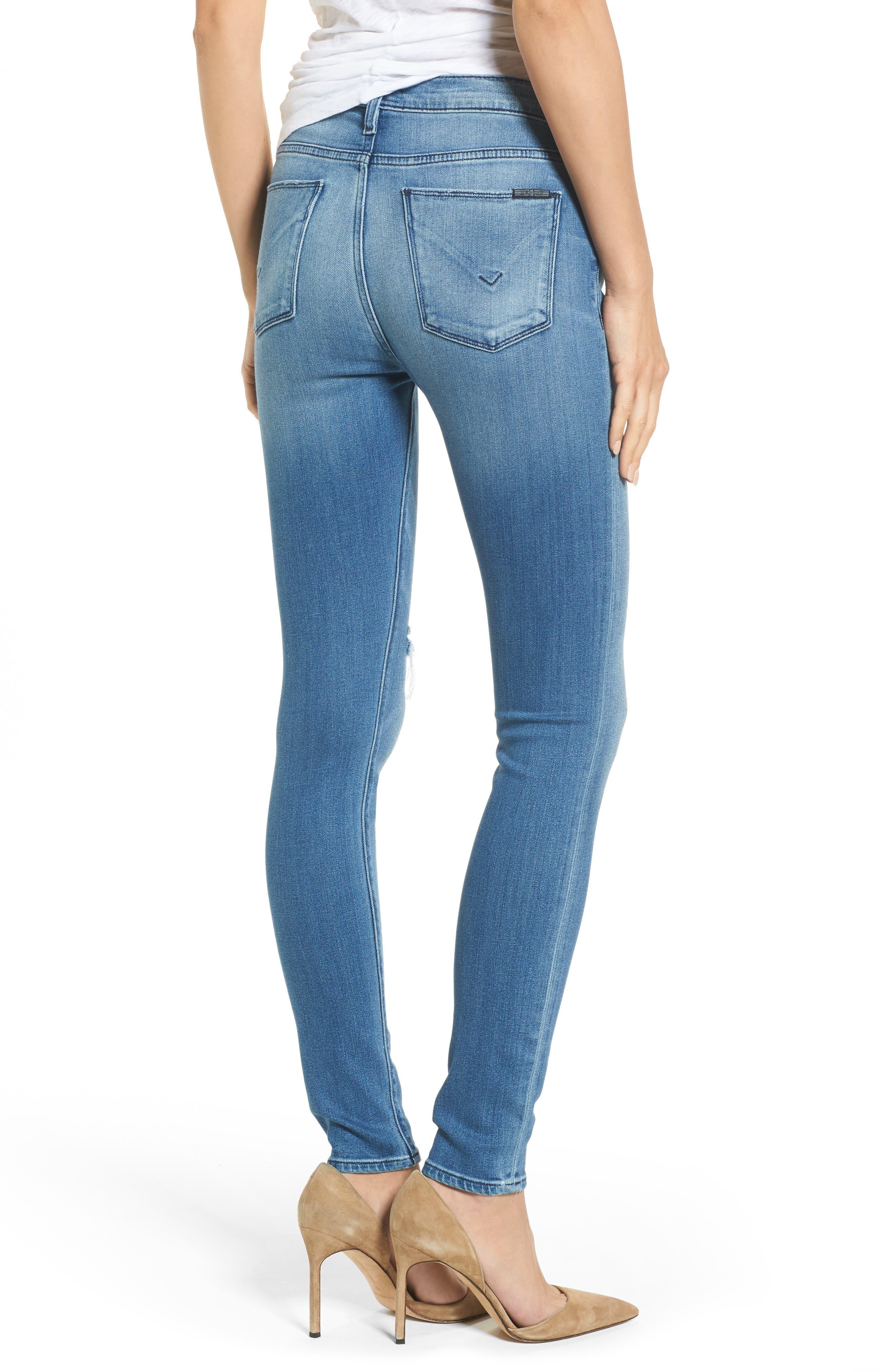 Alternate Image 2  - Hudson Nico Mid Rise Super Skinny Jeans