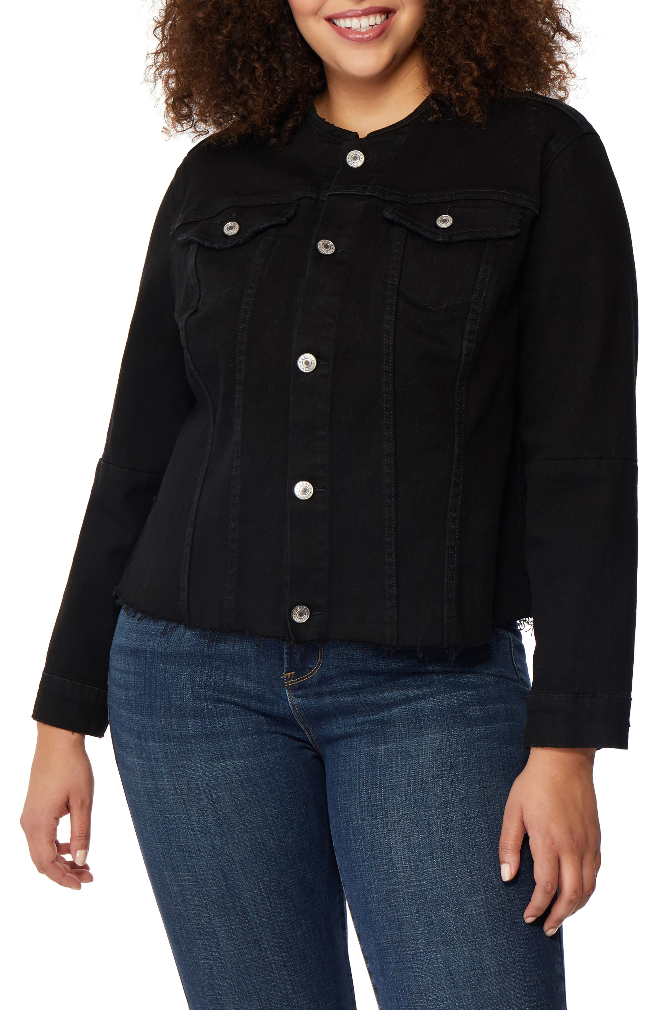 Rebel Wilson x Angels Collarless Denim Jacket (Plus Size)