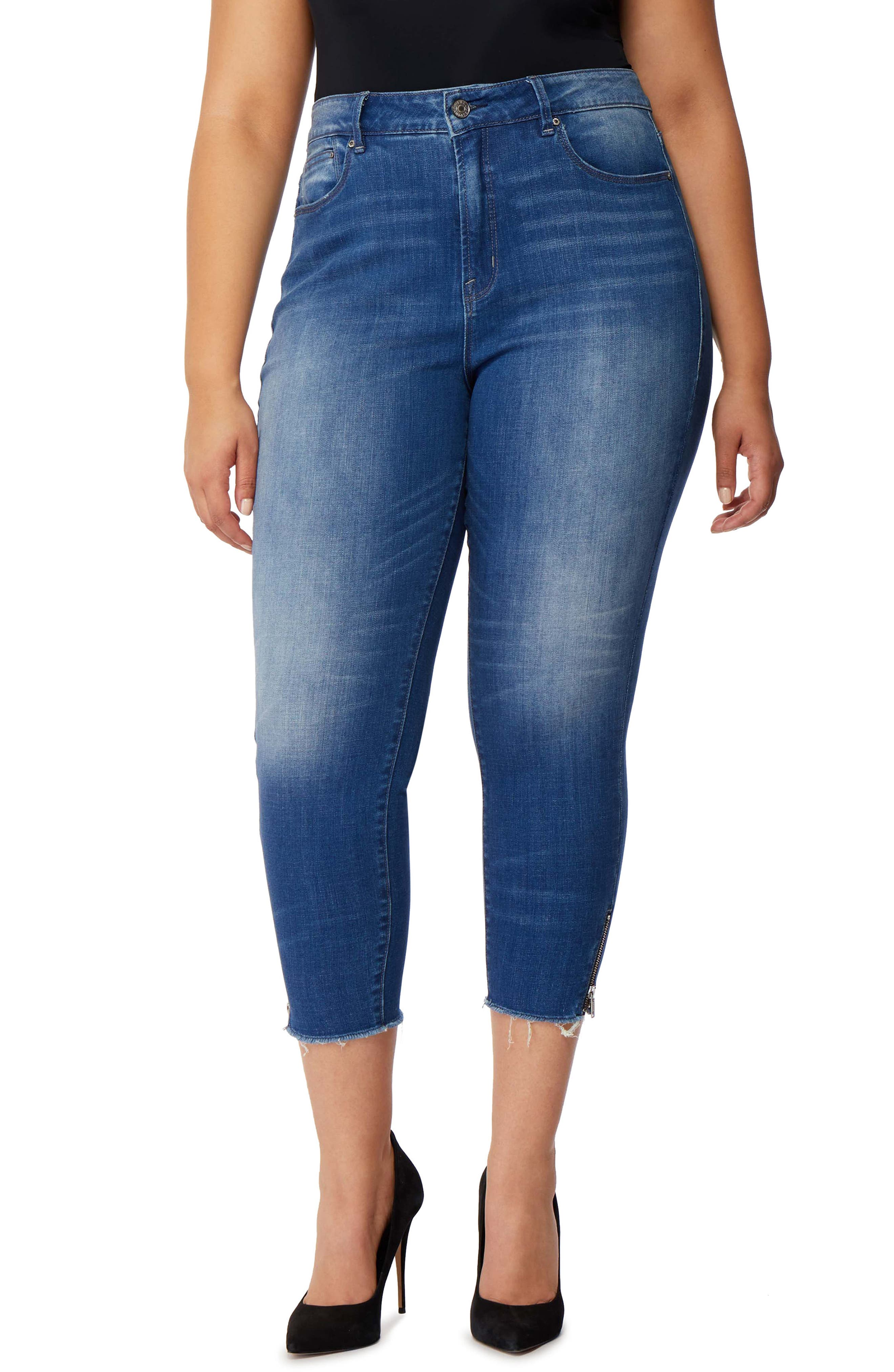 Icon Crop High Waist Skinny Jeans,                             Main thumbnail 1, color,                             Laurel