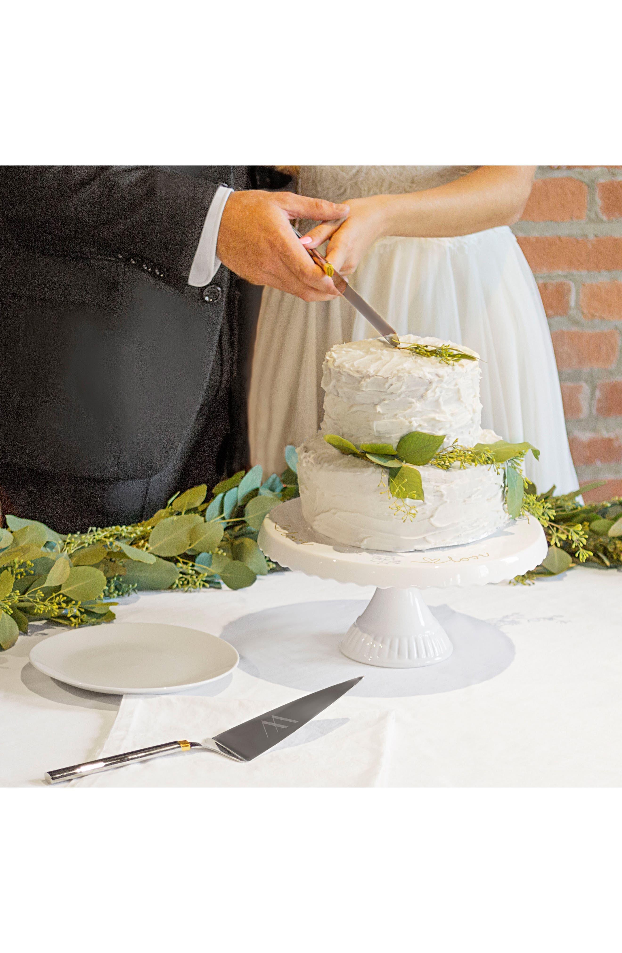 Love Monogram Cake Stand & Server Set,                             Alternate thumbnail 2, color,