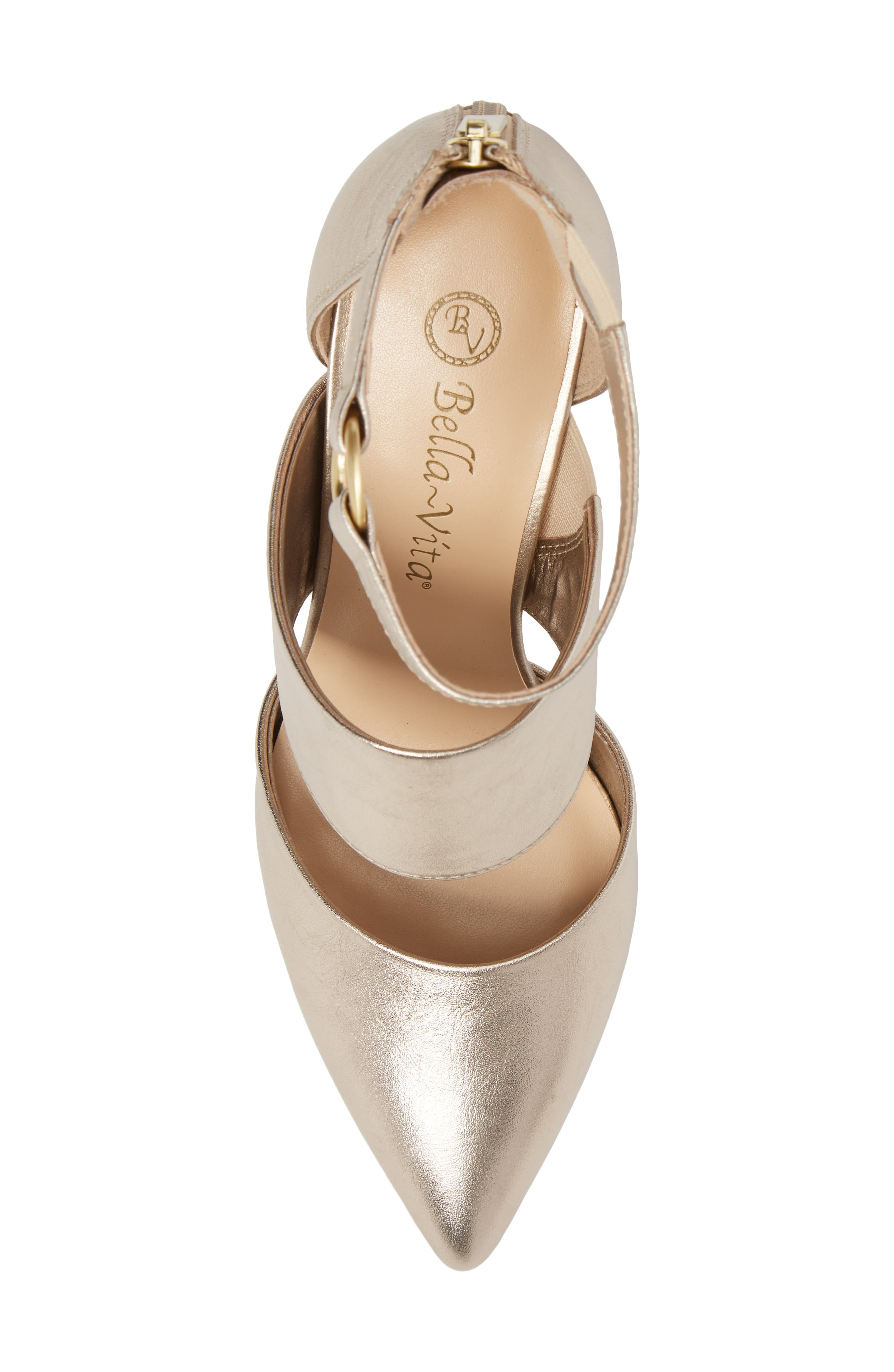Diana Pump,                             Alternate thumbnail 5, color,                             Champagne Leather