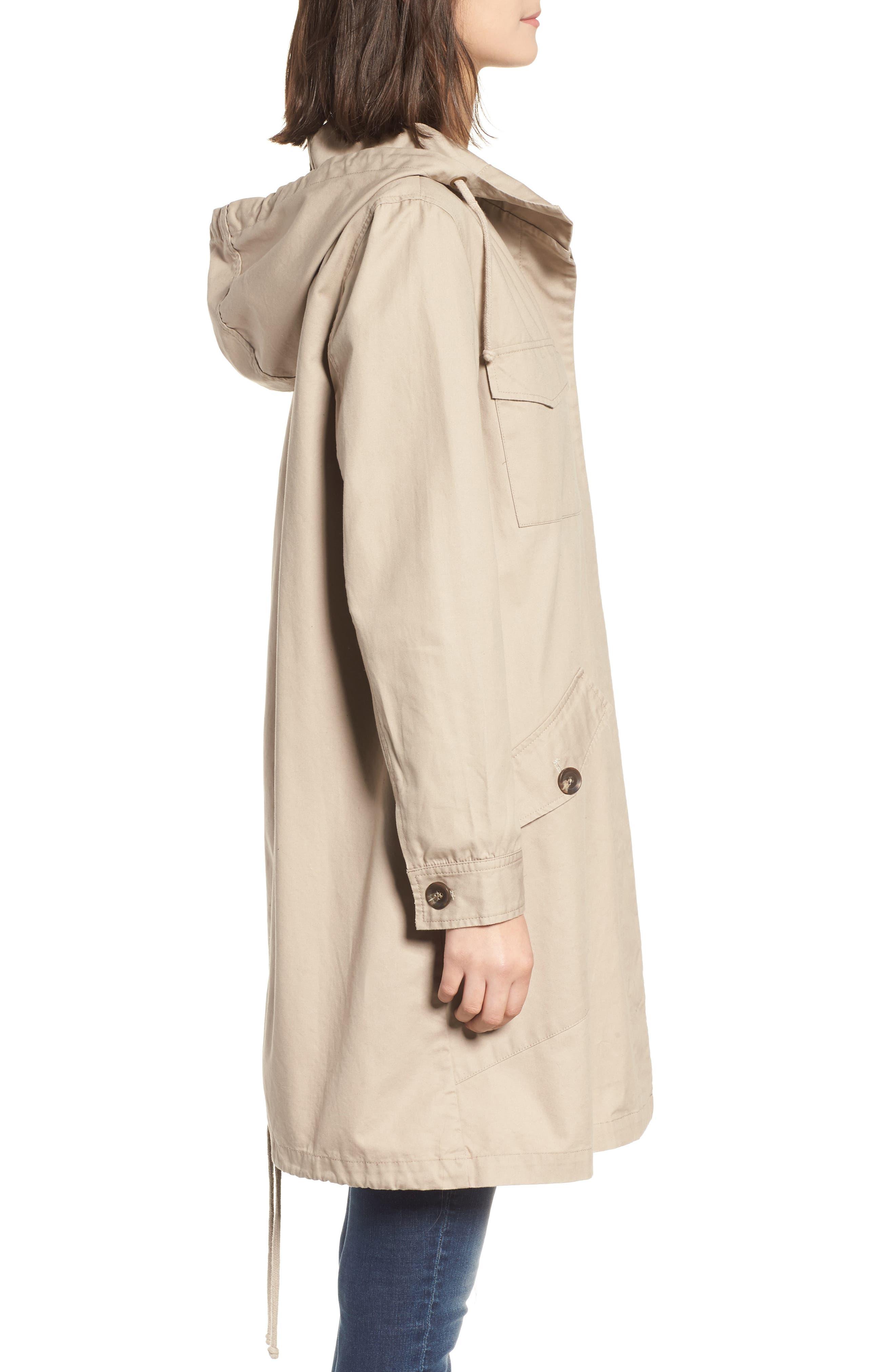 Noah Cotton Twill Coat,                             Alternate thumbnail 3, color,                             Cobblestone