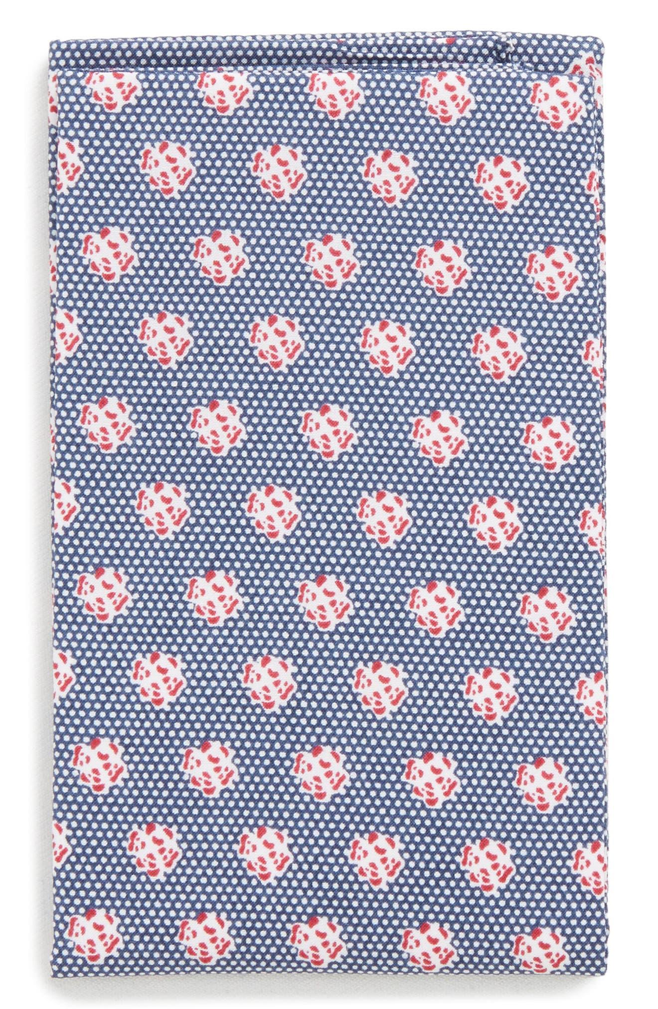 The Perfect Pre-Folded Pocket Square,                             Main thumbnail 1, color,                             Blue Talon Floral