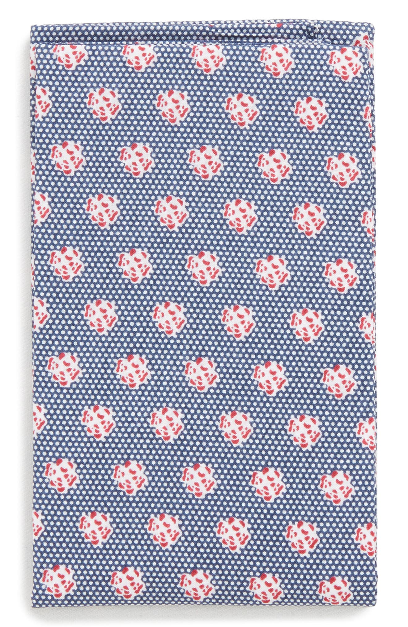 The Perfect Pre-Folded Pocket Square,                         Main,                         color, Blue Talon Floral