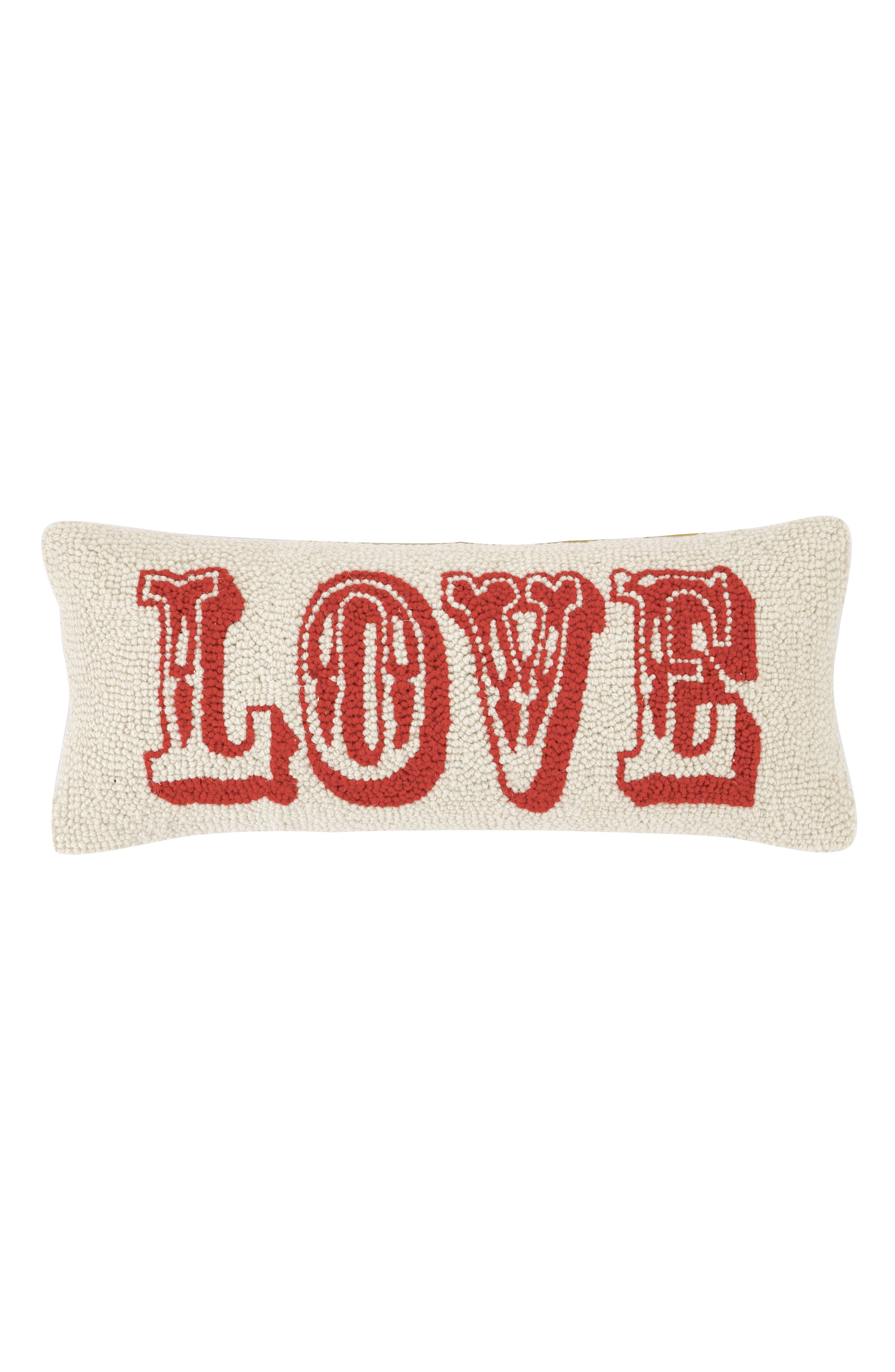Love Accent Pillow,                         Main,                         color, Red Multi
