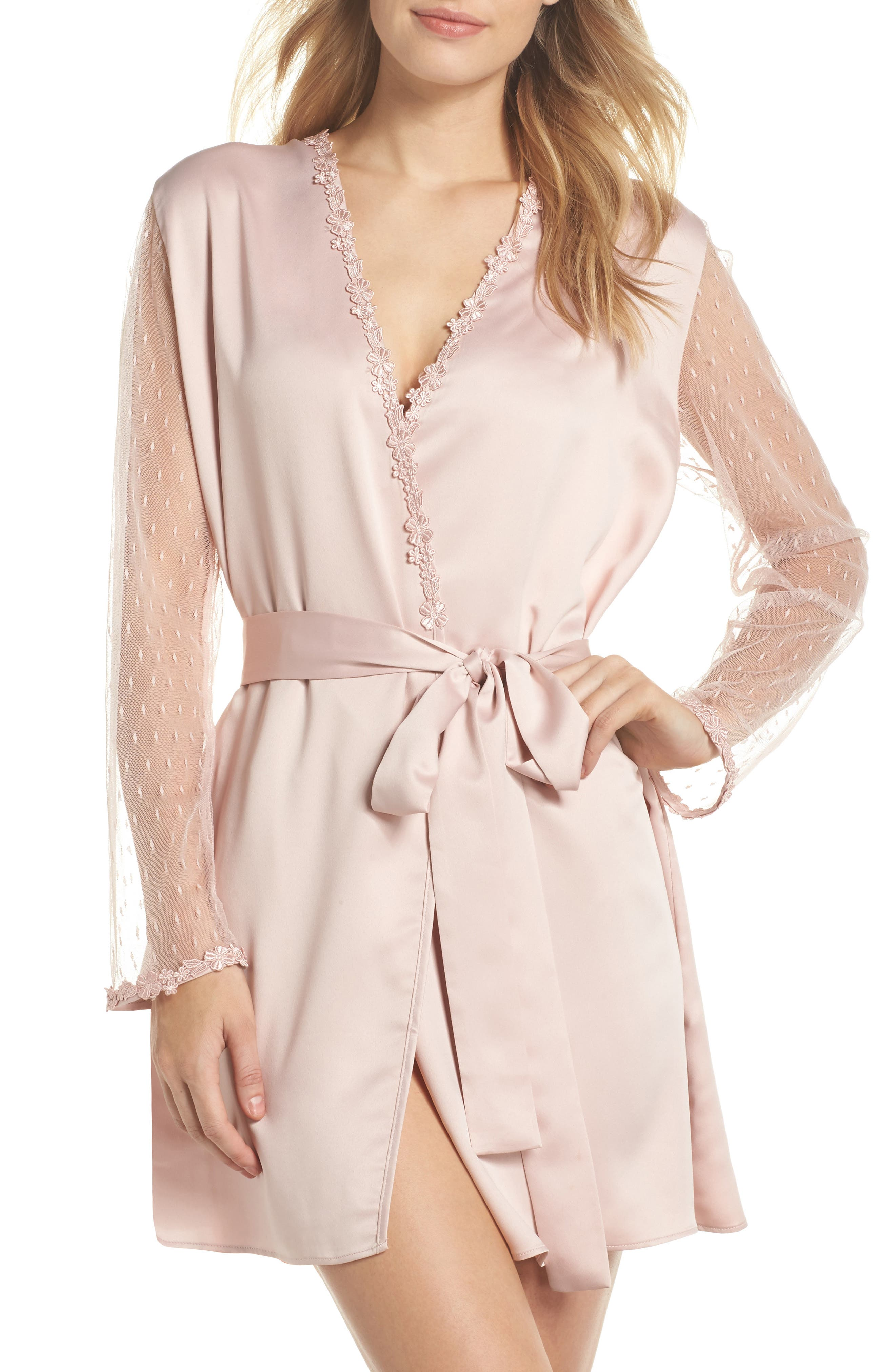 Showstopper Robe,                         Main,                         color, Shell Pink