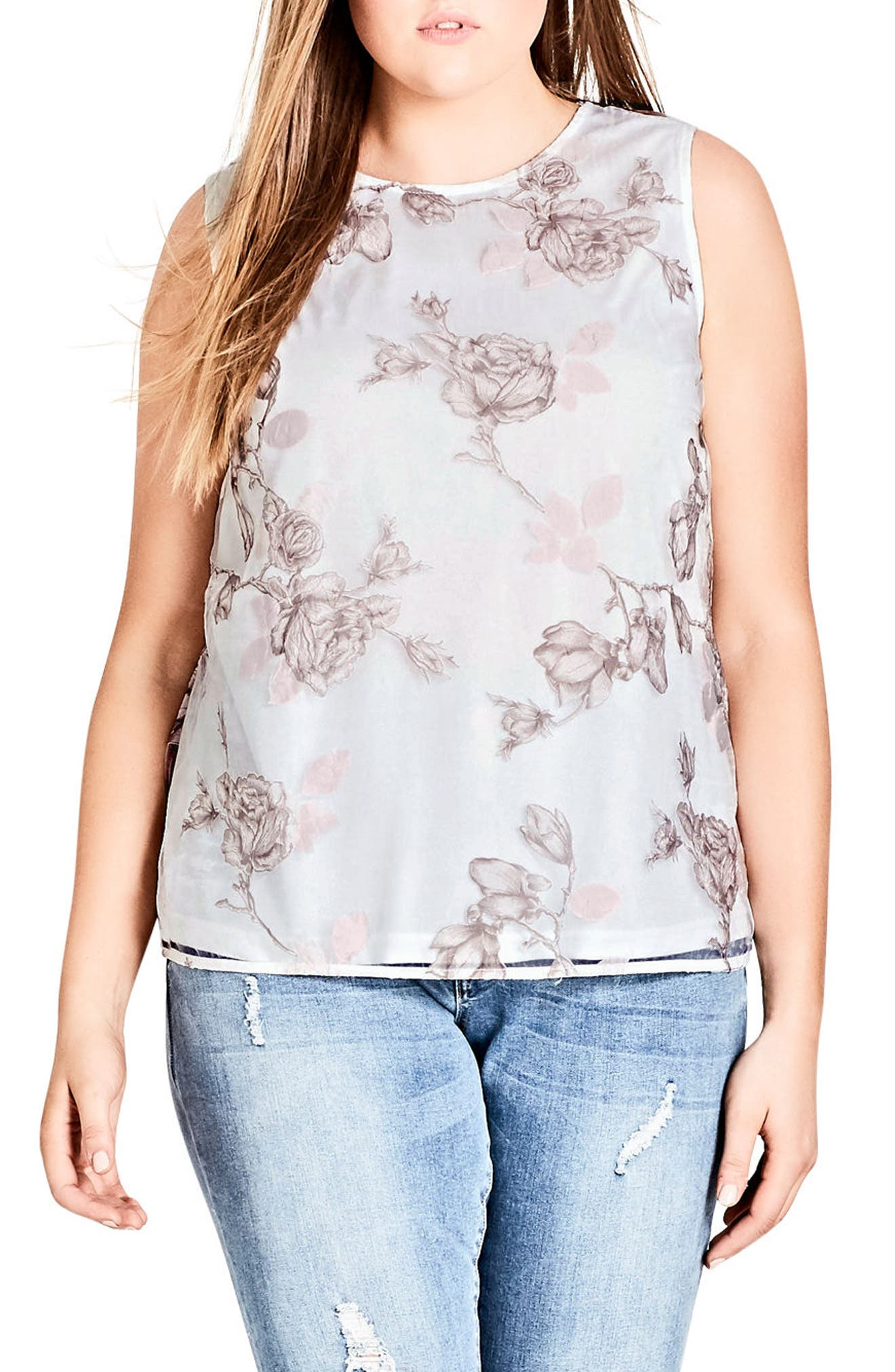 City Chic Devotion Top (Plus Size)
