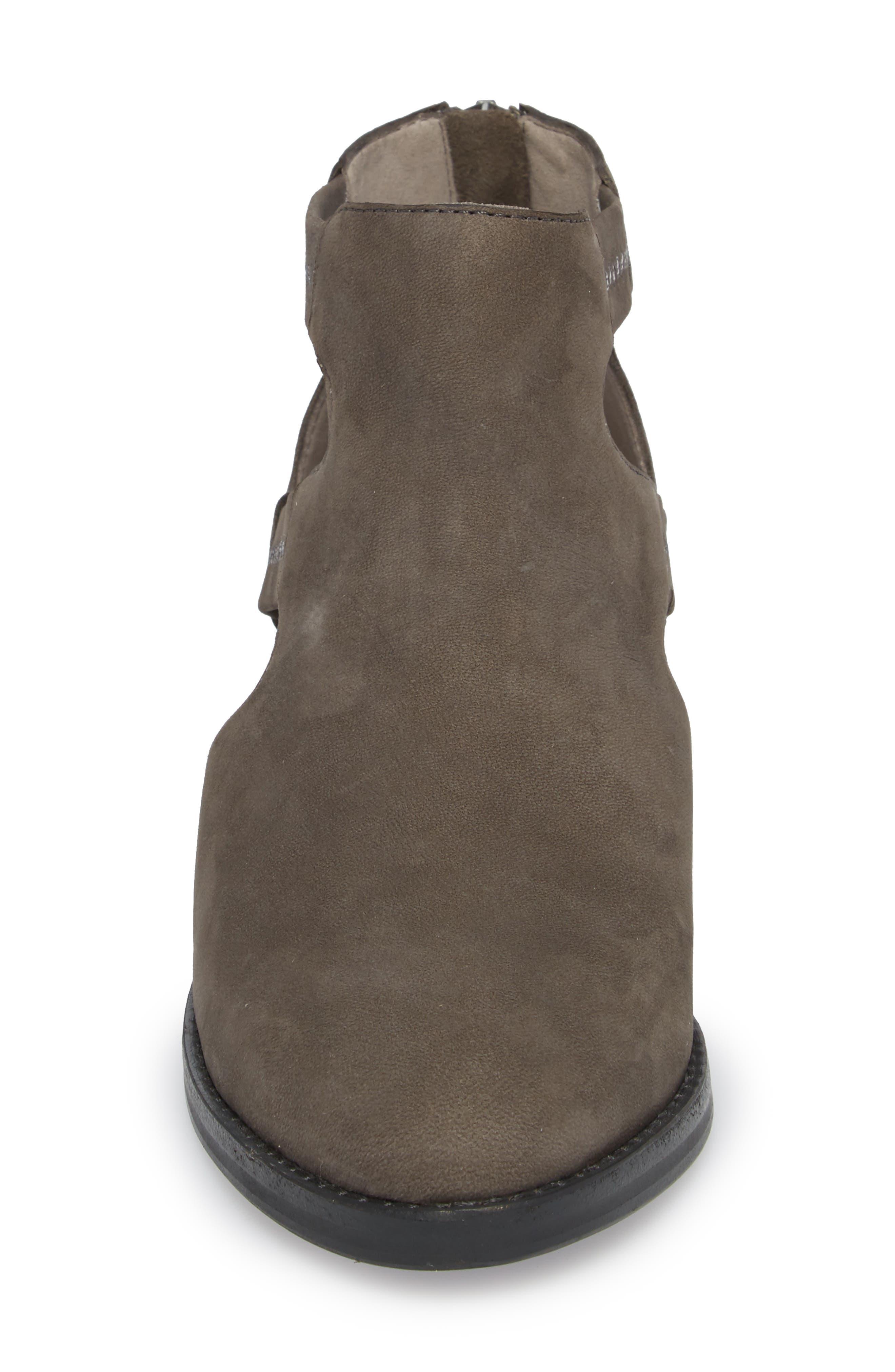 Vanda Cutout Bootie,                             Alternate thumbnail 4, color,                             Graphite Nubuck
