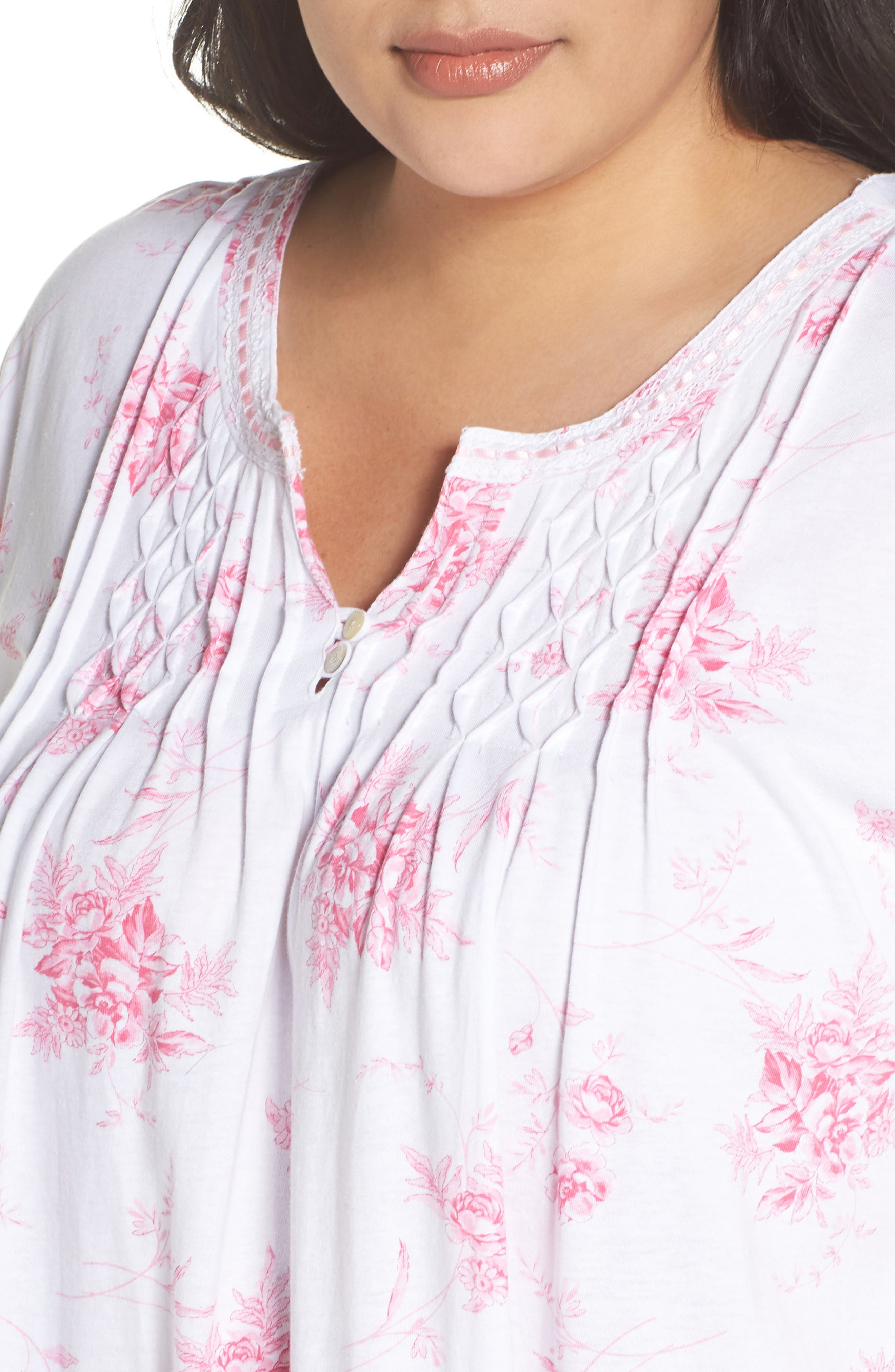 Cotton Jersey Long Nightgown,                             Alternate thumbnail 5, color,                             Bouquet Swing