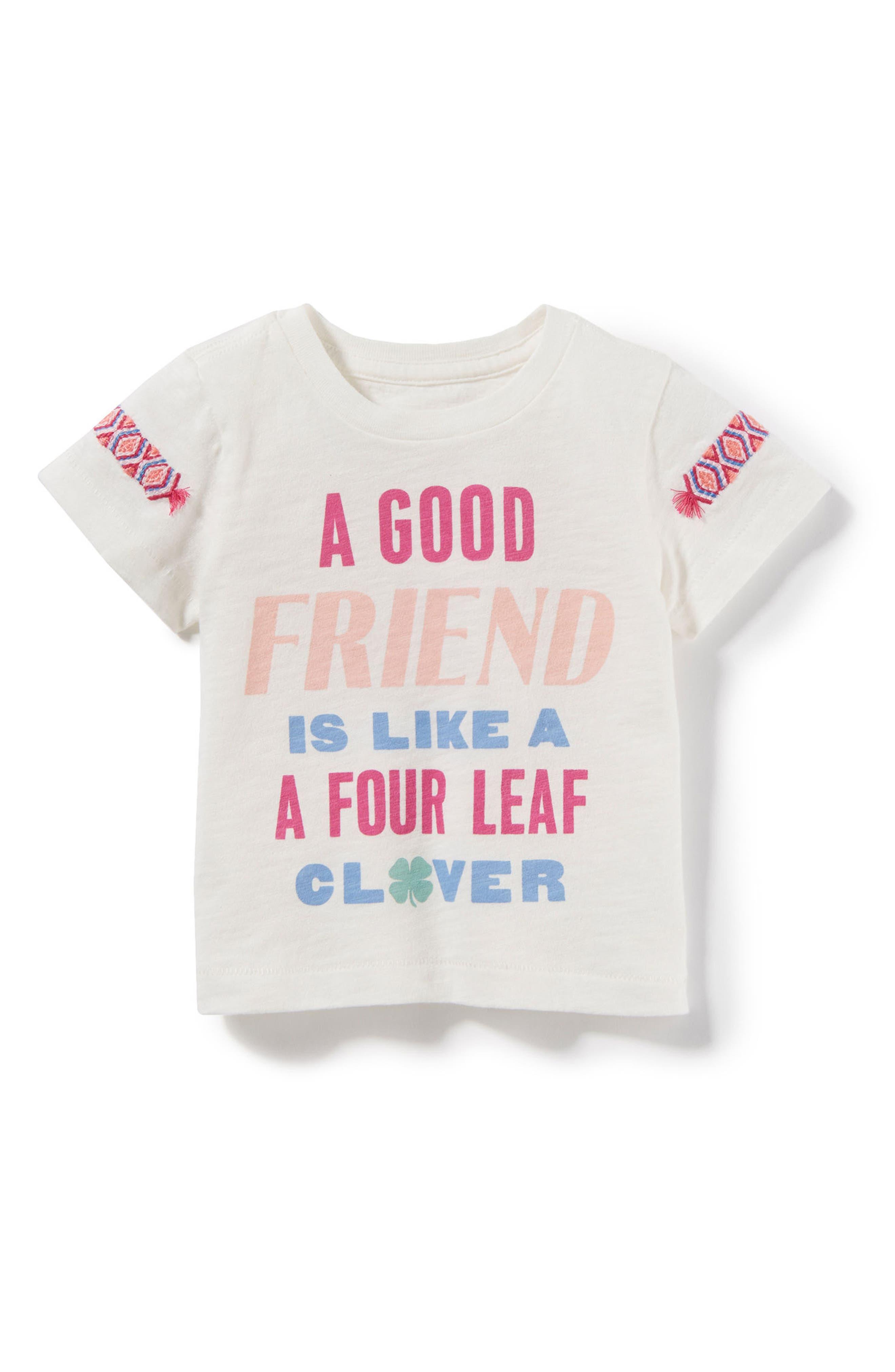 Main Image - Peek Good Friend Graphic Tee (Baby Girls)