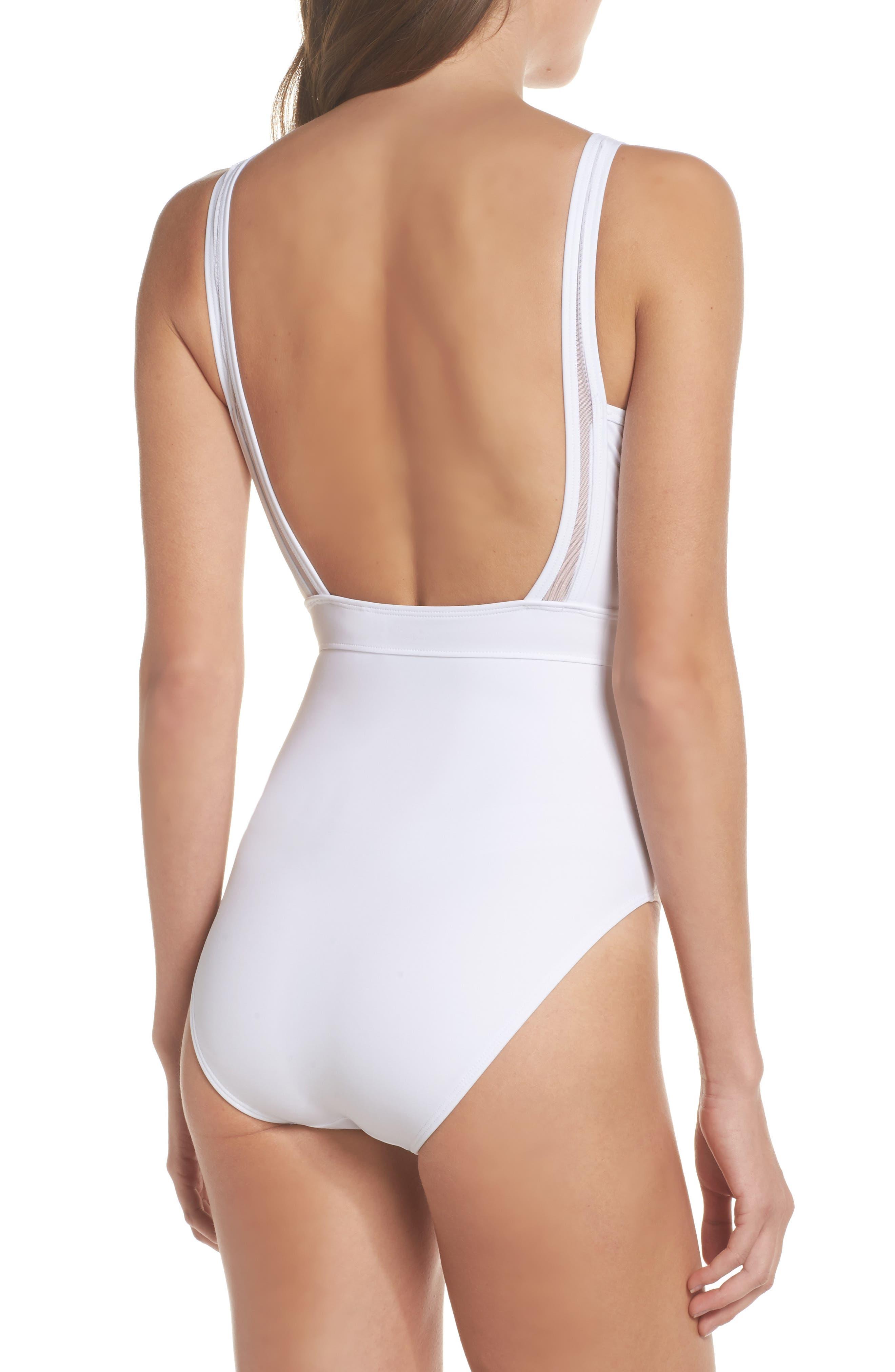 Alternate Image 2  - Ted Baker London Illiana Mesh Detail One-Piece Swimsuit