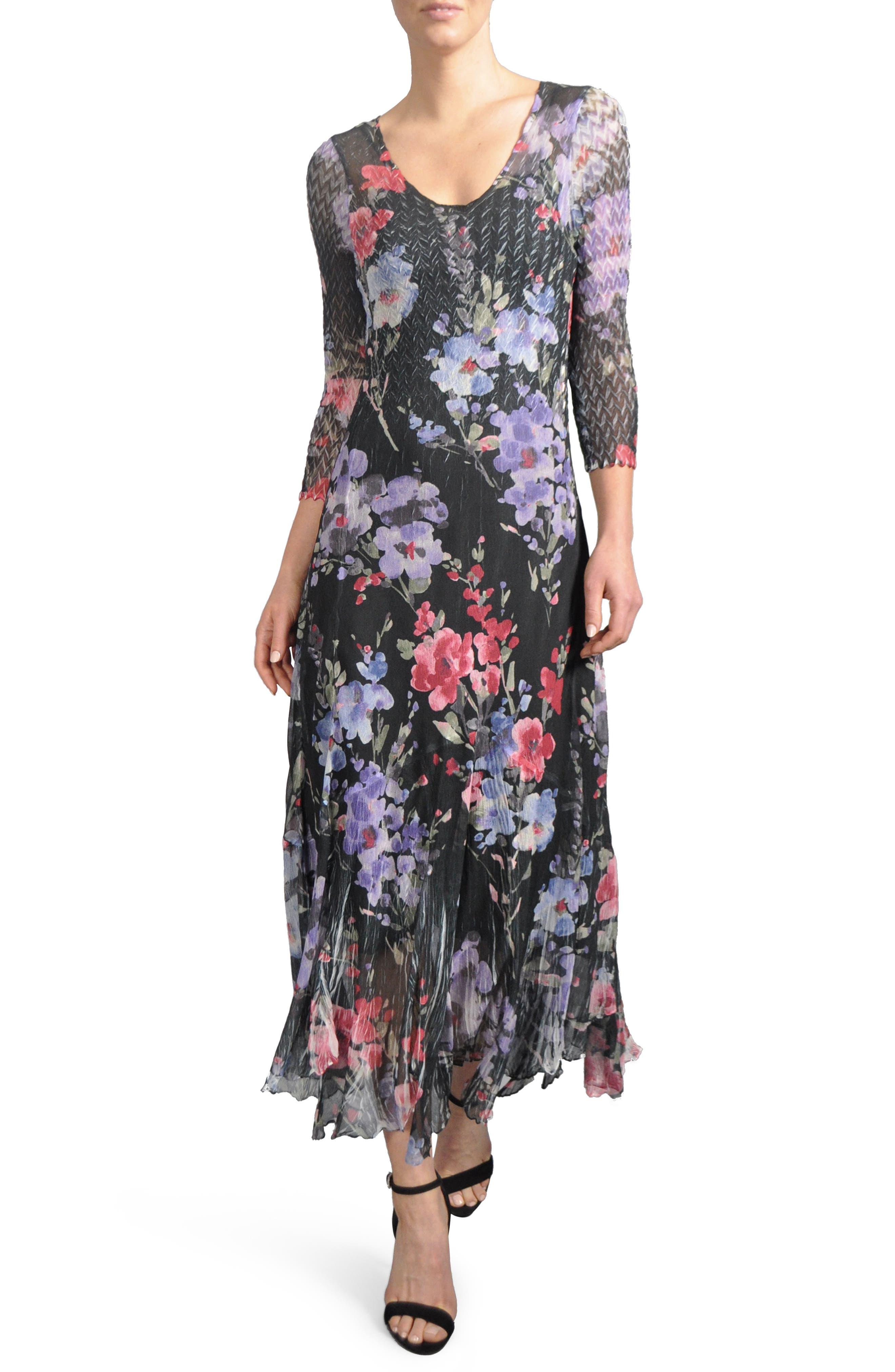 Print A-Line Dress,                             Main thumbnail 1, color,                             Eternal Bloom