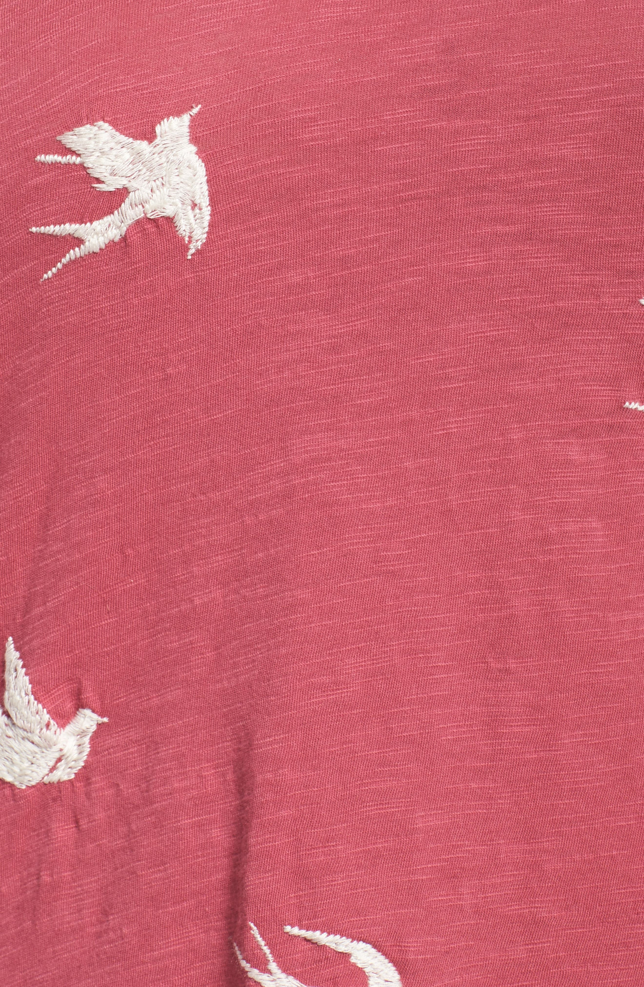 Alternate Image 5  - Lucky Brand Embroidered Tee (Plus Size)