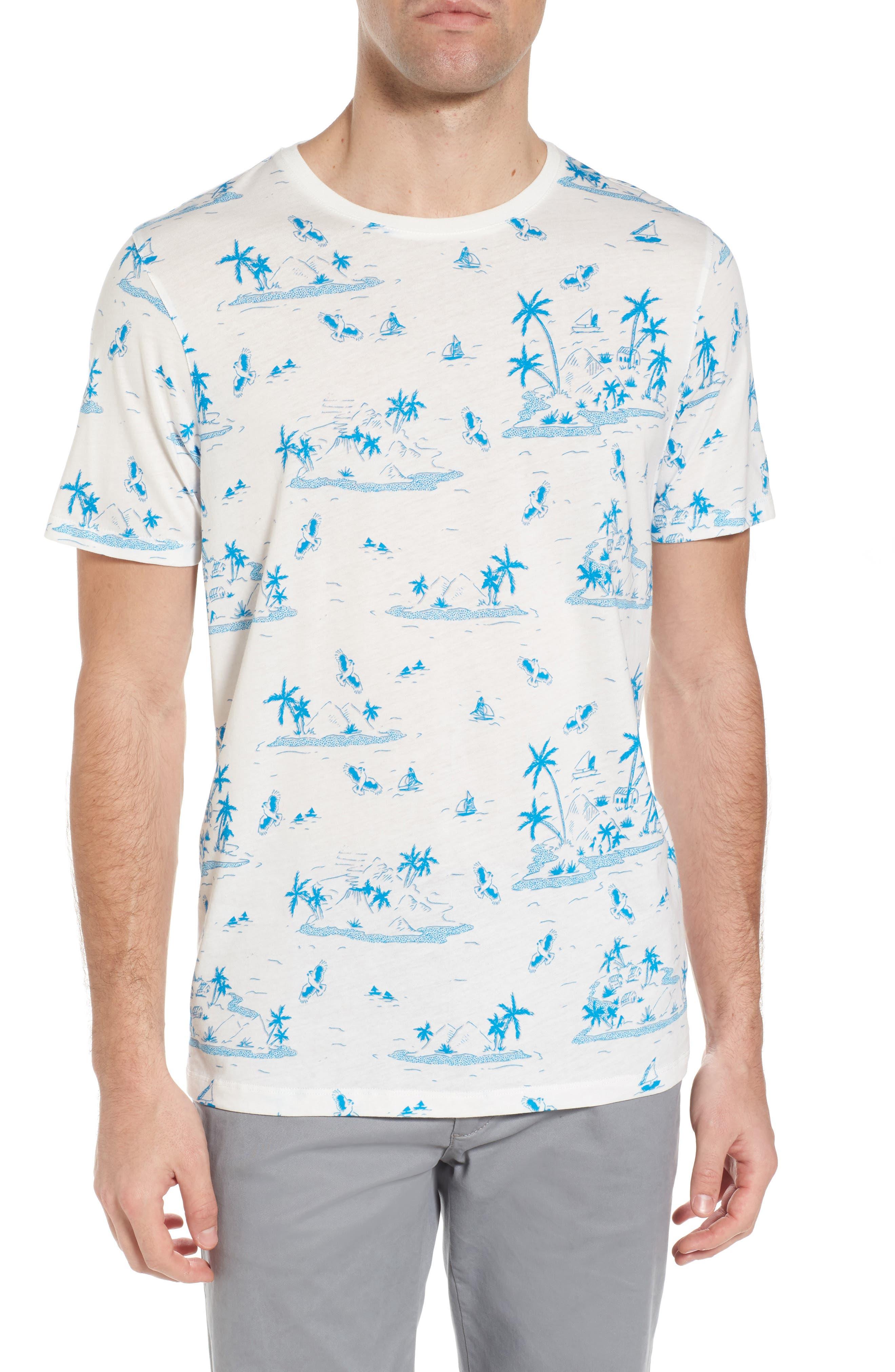 Alternate Image 1 Selected - Ted Baker London Lamp Island Print T-Shirt