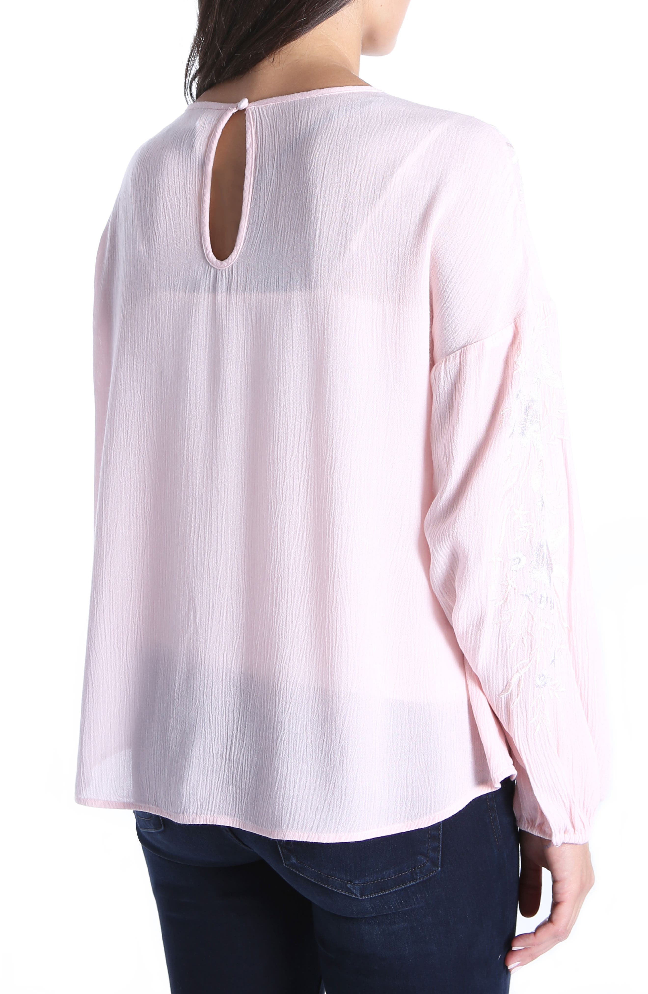 Ailiana Embroidered Blouse,                             Alternate thumbnail 2, color,                             Pink Bloom