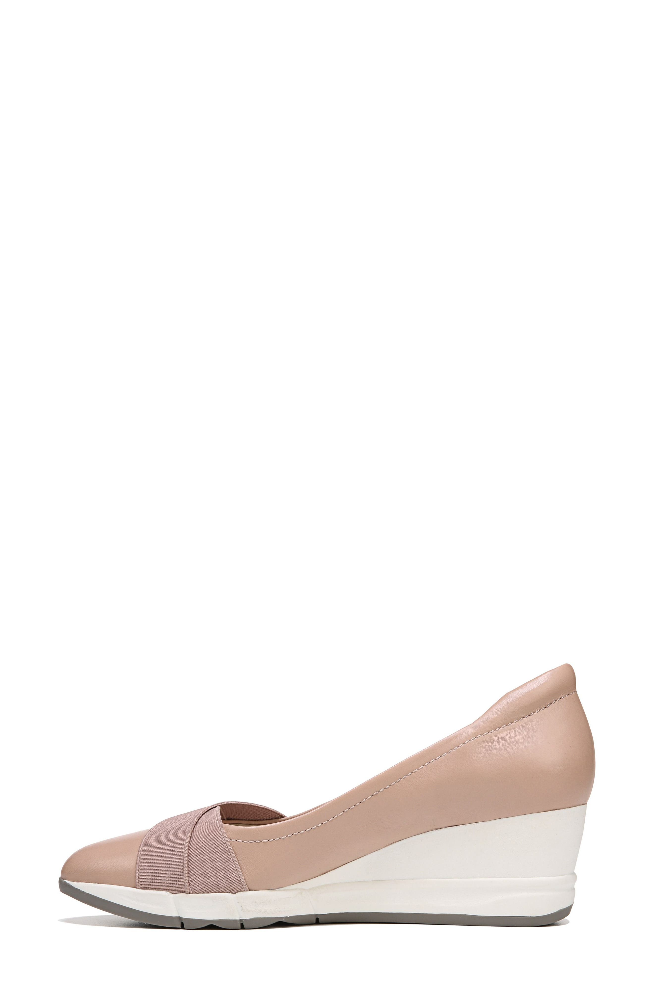 Harlyn Wedge Pump,                             Alternate thumbnail 4, color,                             Mauve Leather