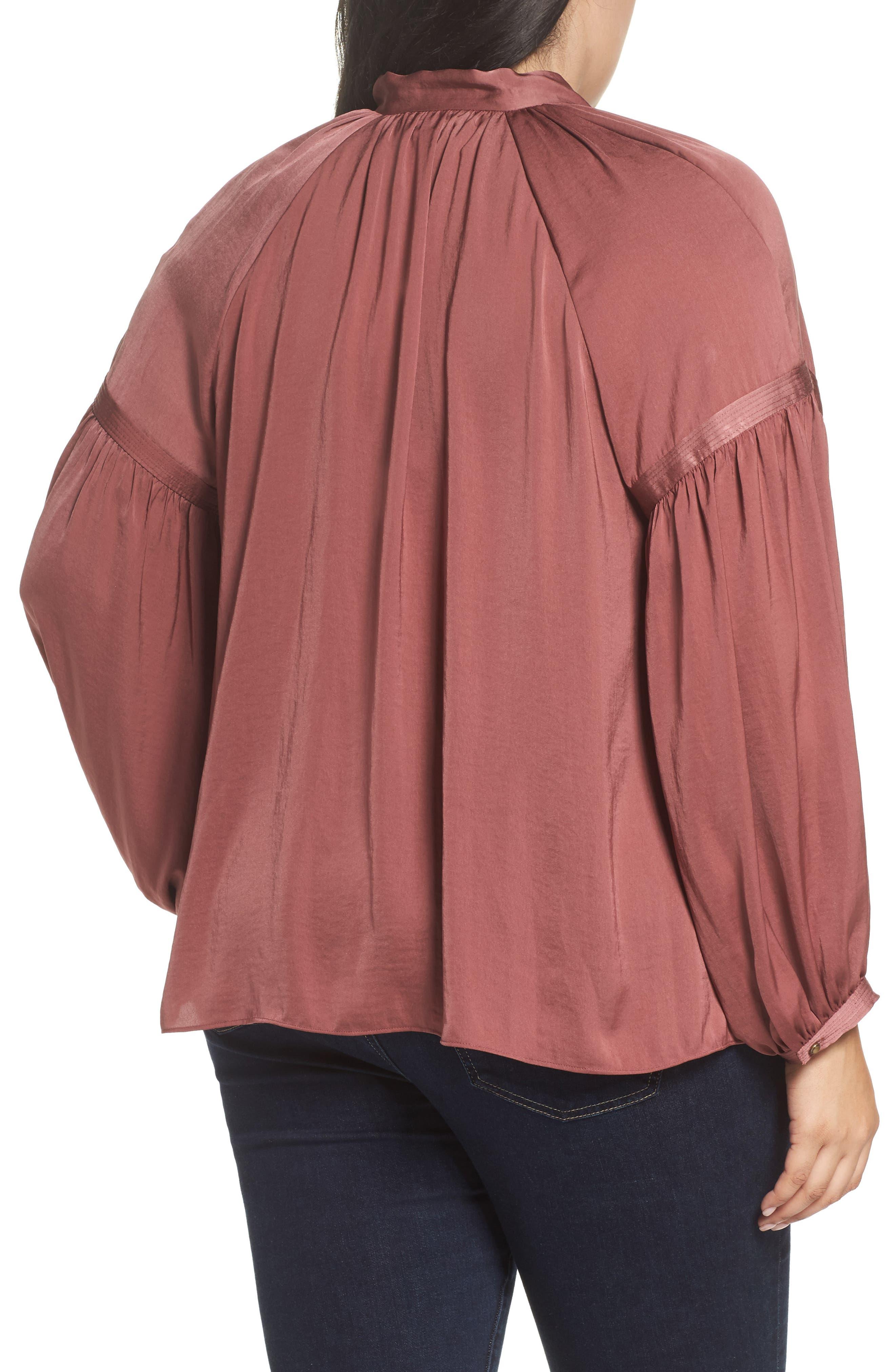 Alternate Image 2  - Lucky Brand Jenna Peasant Top (Plus Size)