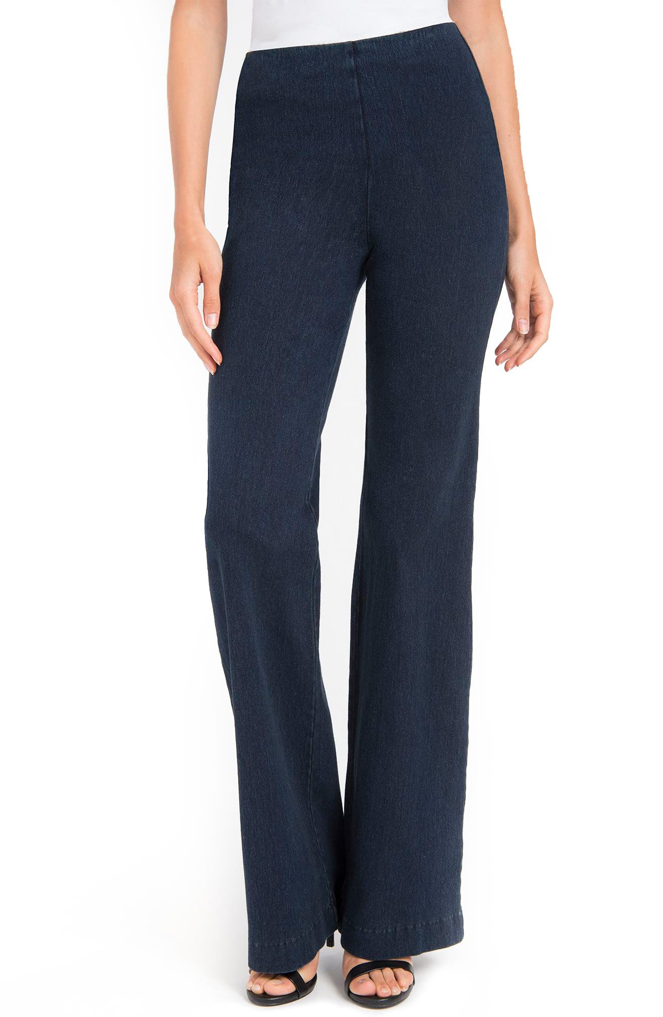 Wide Leg Denim Trousers,                         Main,                         color, Indigo