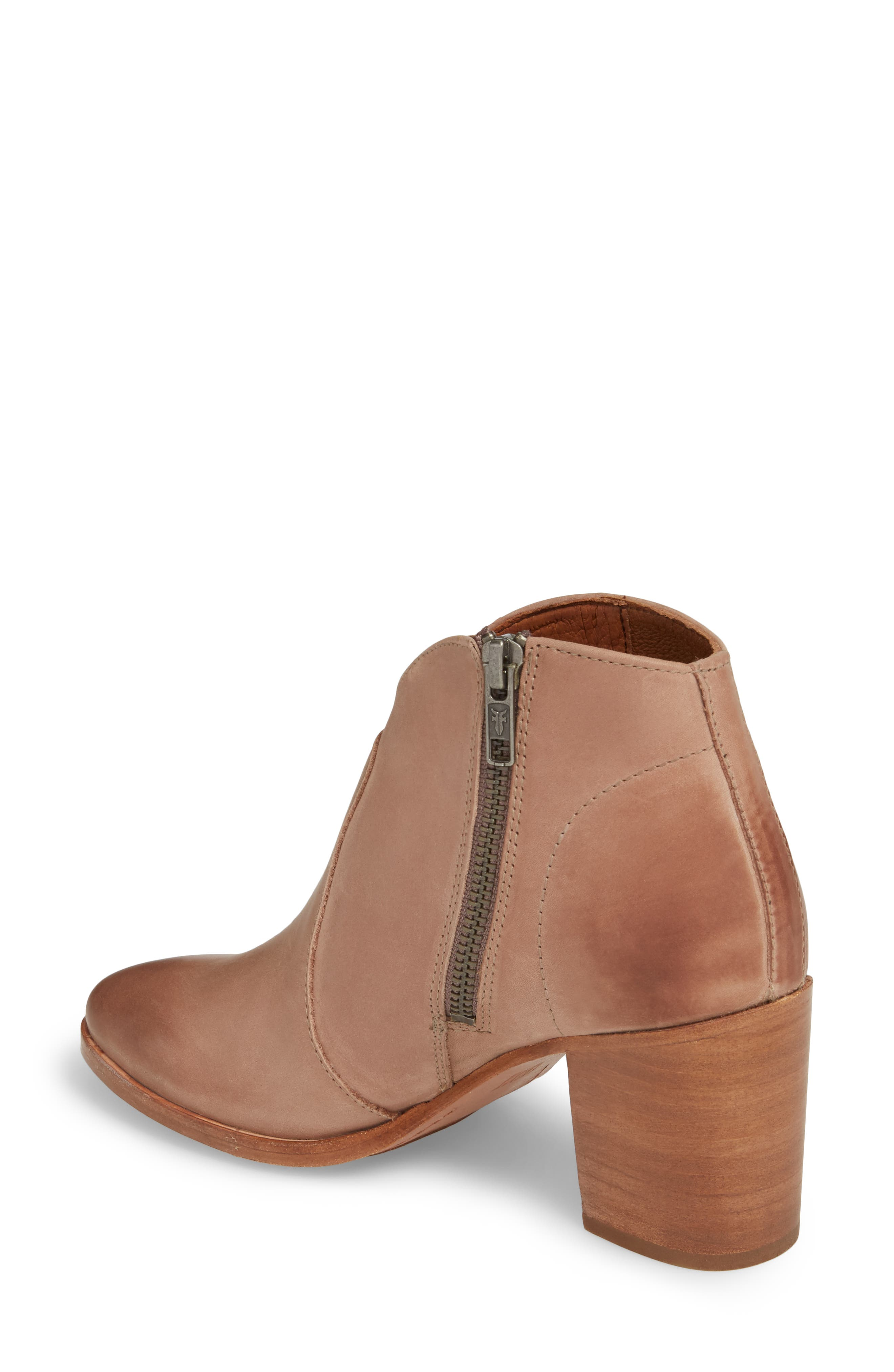 Nora Zip Bootie,                             Alternate thumbnail 2, color,                             Dusty Rose