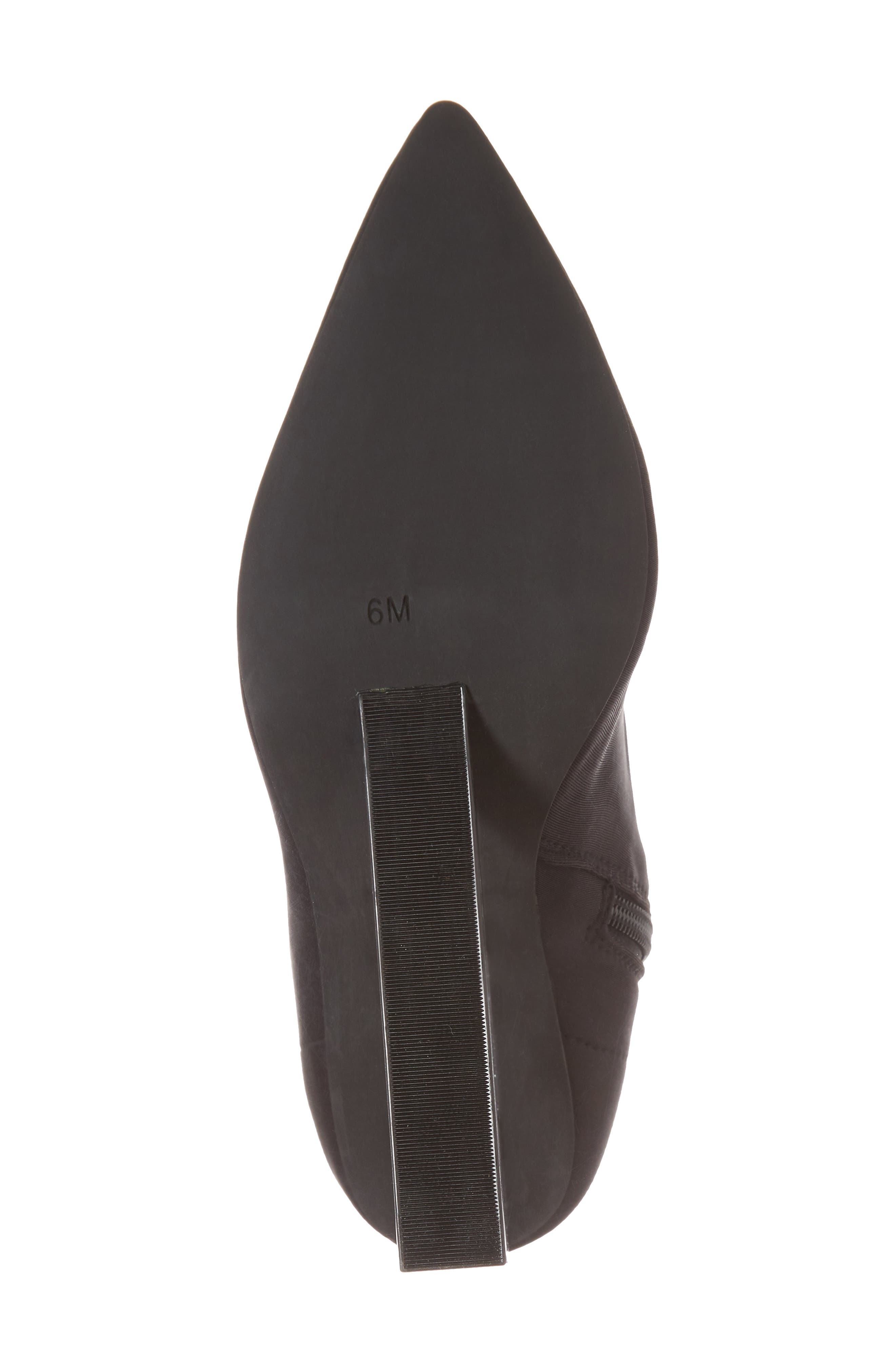 Siren Clear Wedge Sock Bootie,                             Alternate thumbnail 6, color,                             Black Fabric