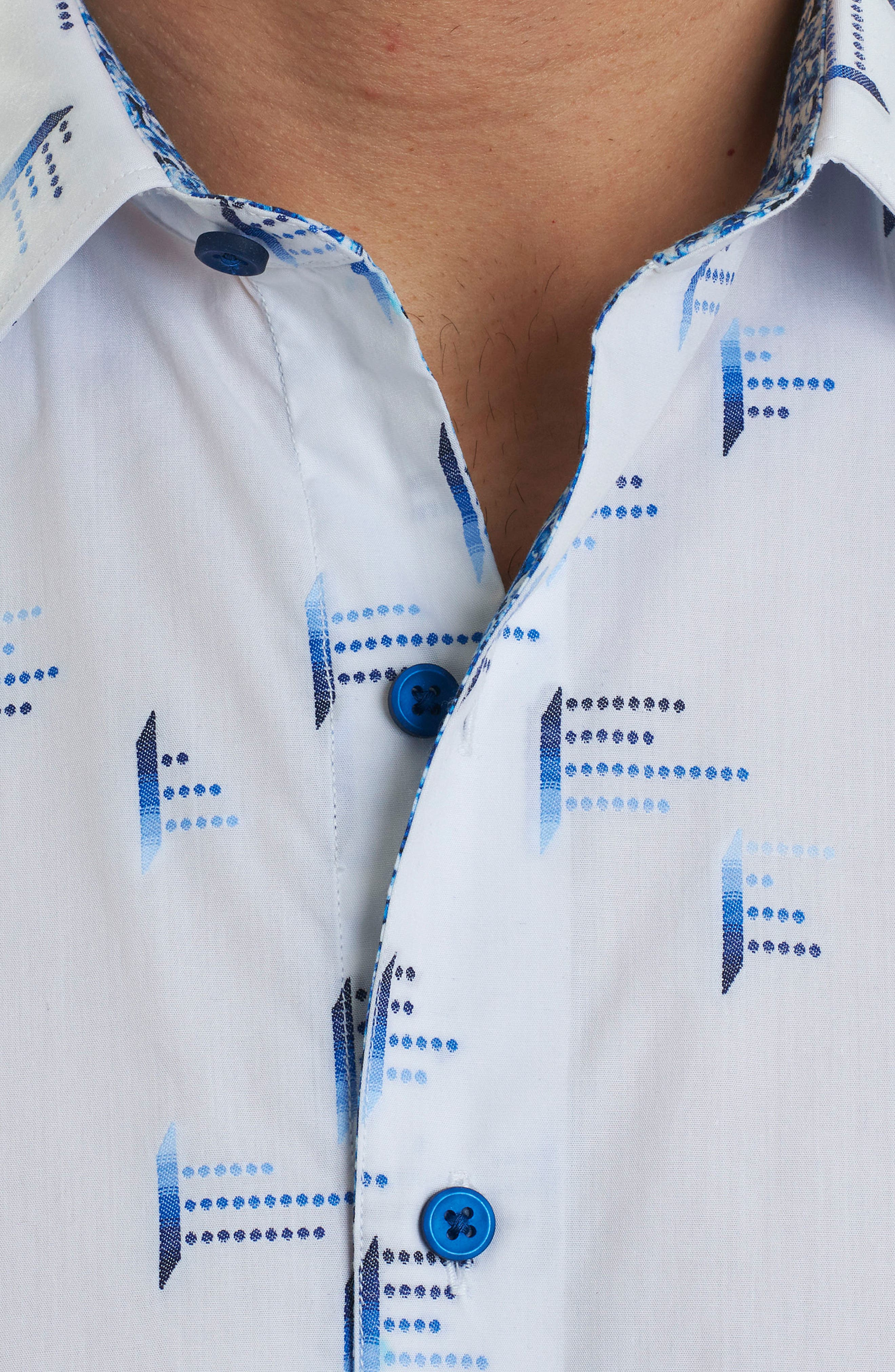 Reid Classic Fit Print Sport Shirt,                             Alternate thumbnail 2, color,                             White