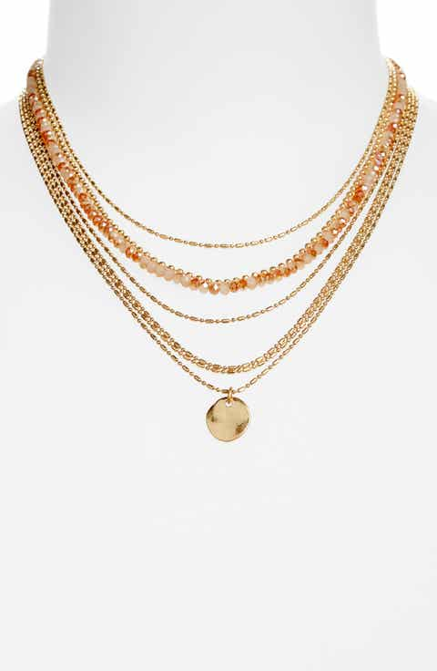 Womens necklaces nordstrom treasure bond seven layer bead necklace mozeypictures Gallery