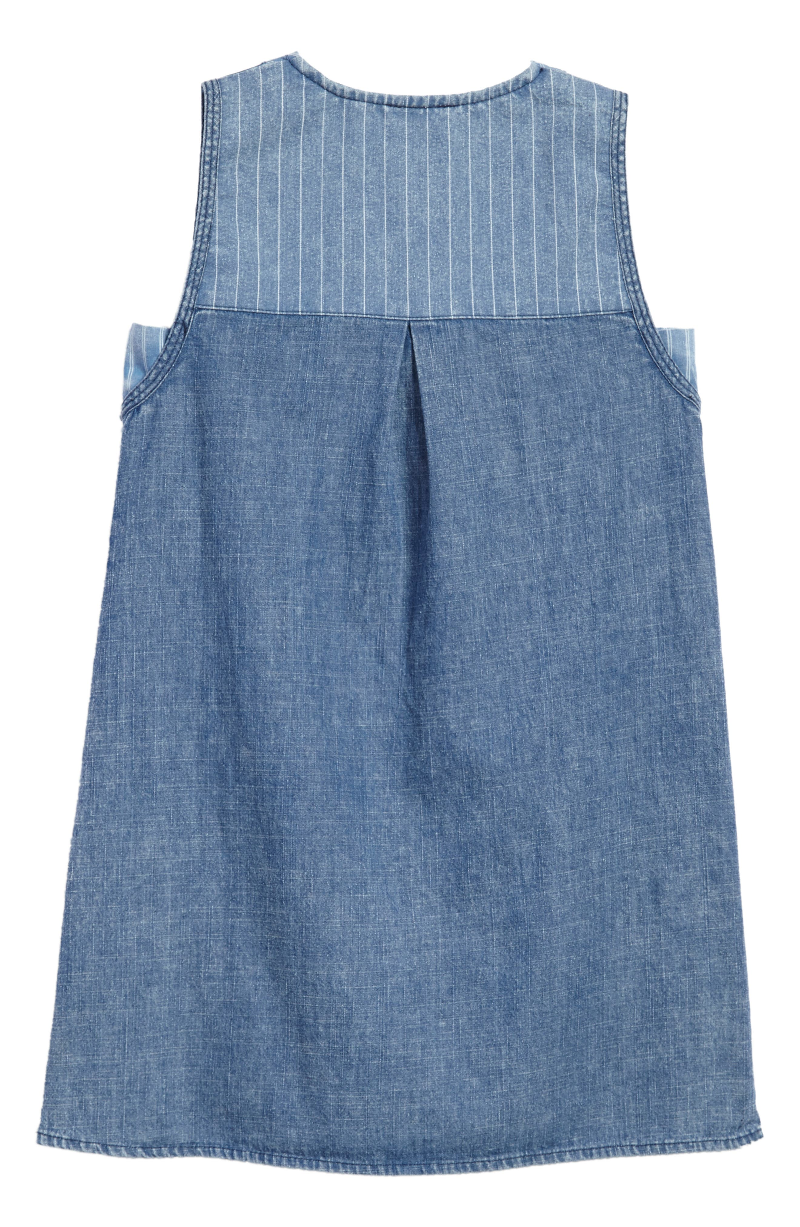 Alternate Image 2  - Kiddo Denim Shift Dress (Big Girls)