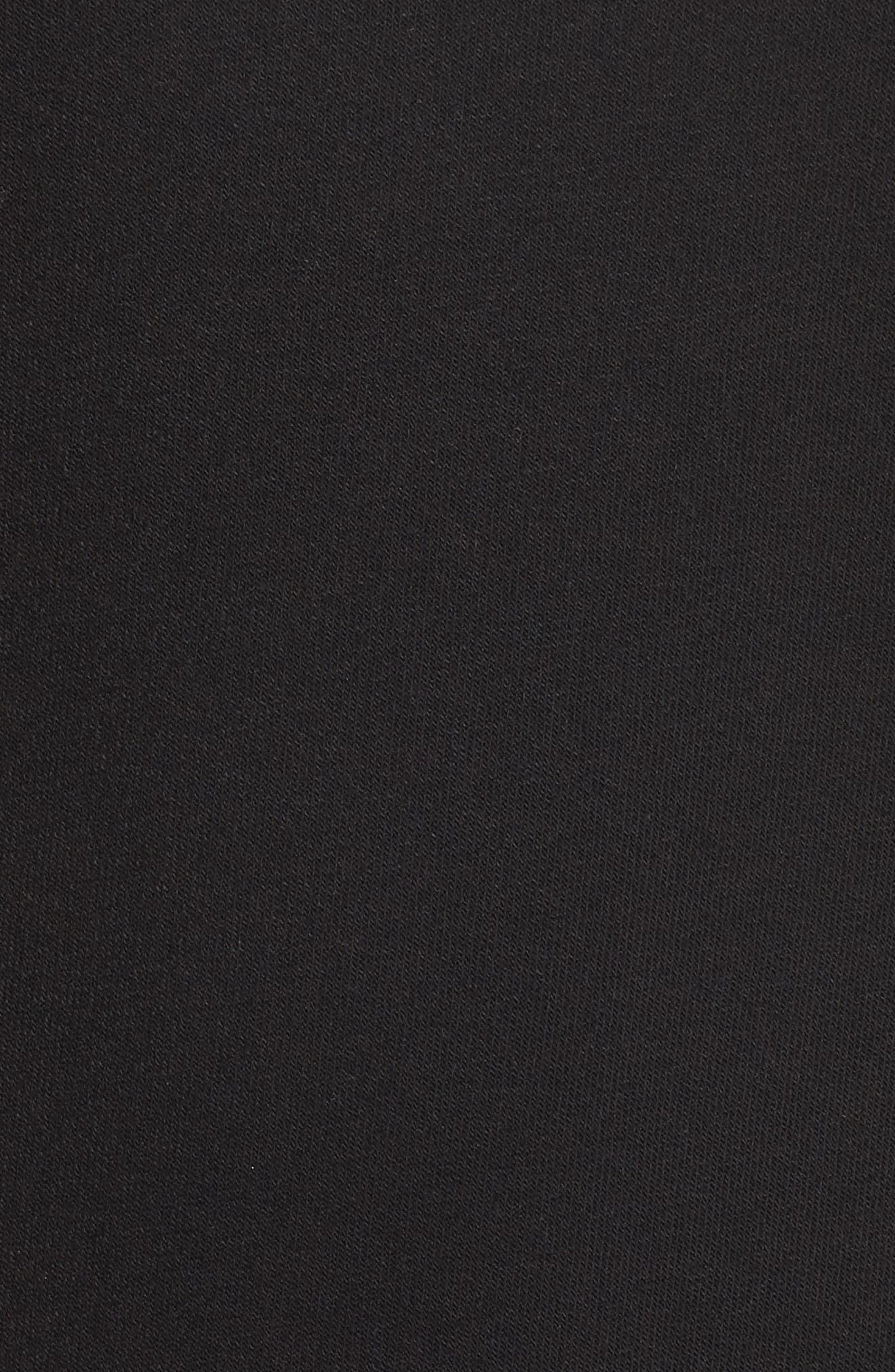 Lattice Long Sleeve Pullover,                             Alternate thumbnail 6, color,                             Black