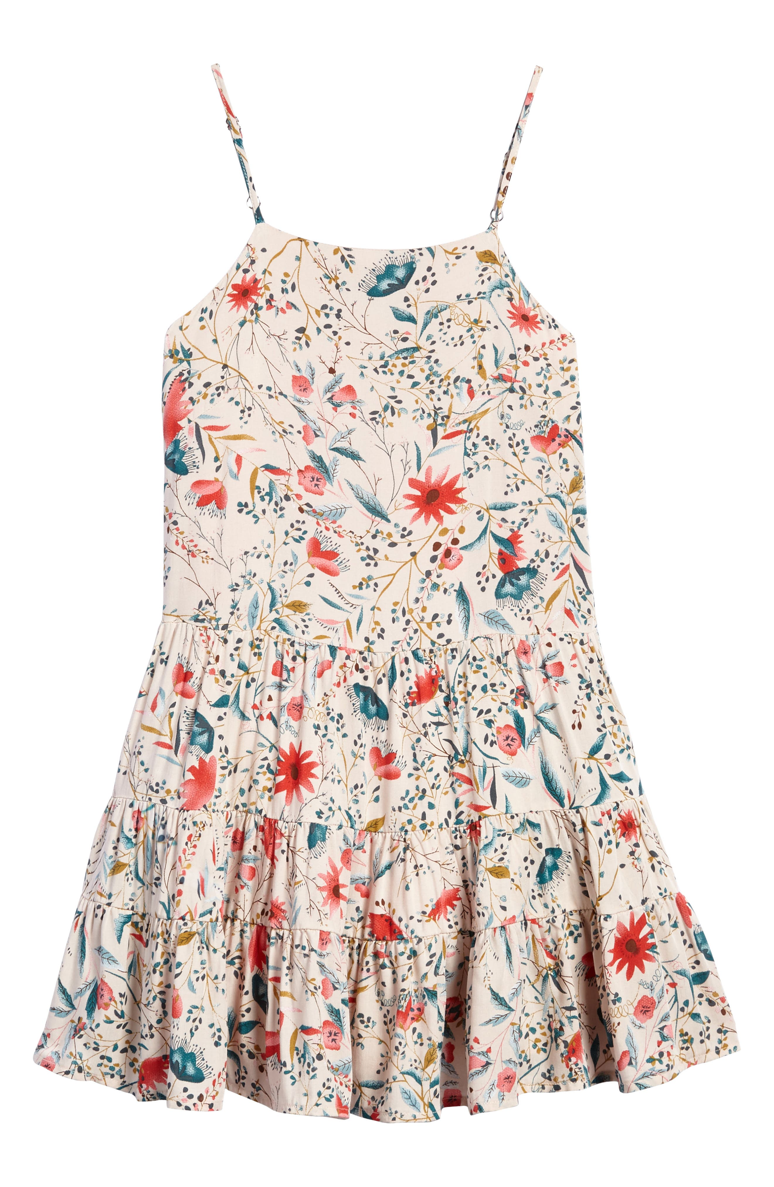 For All Seasons Print Flounce Sundress (Big Girls)