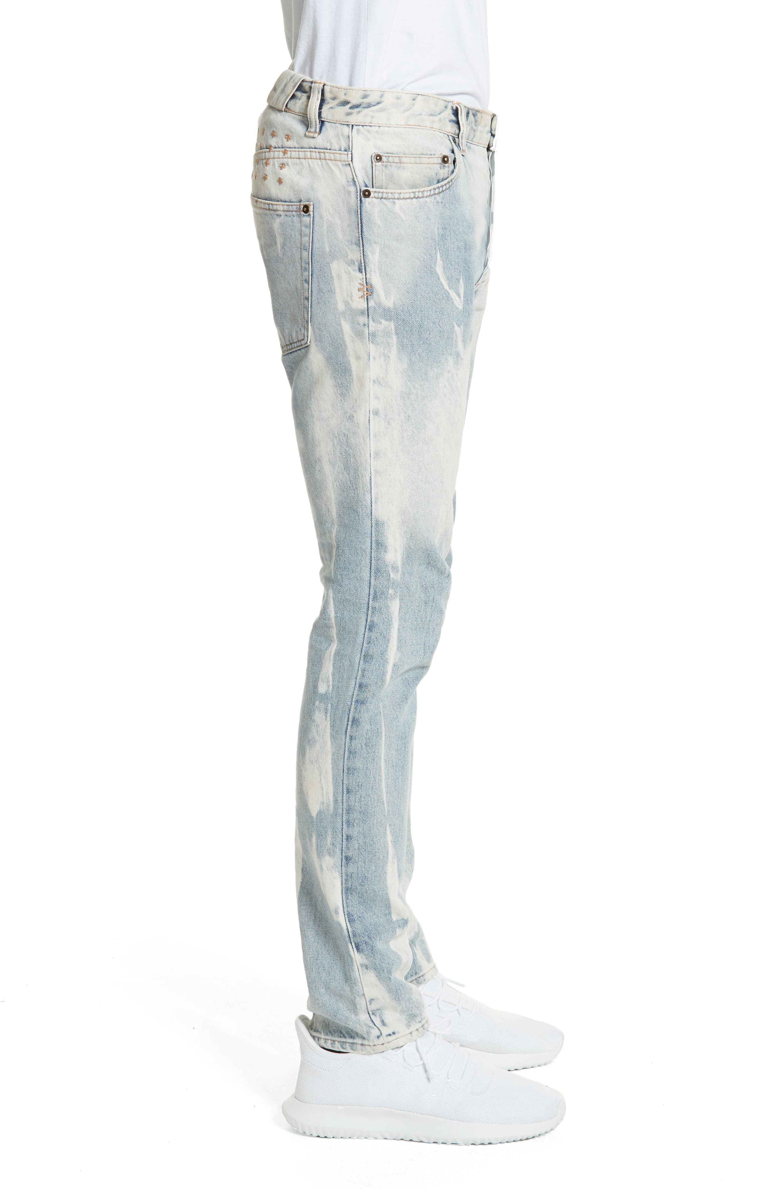 Chitch Mile Skinny Jeans,                             Alternate thumbnail 3, color,                             Denim