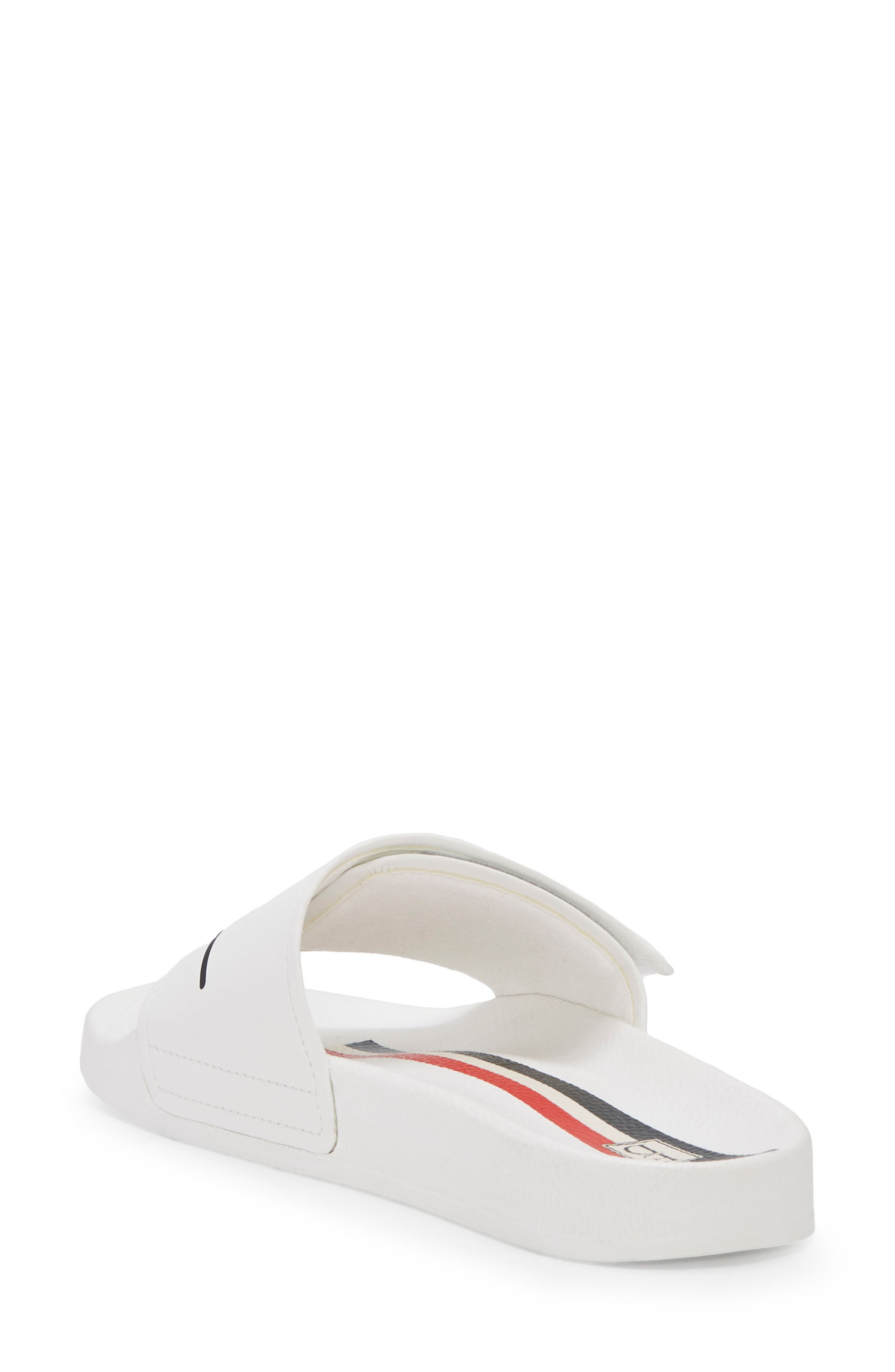 Paradia Slide Sandal,                             Alternate thumbnail 2, color,                             Pure White/ Lagoon
