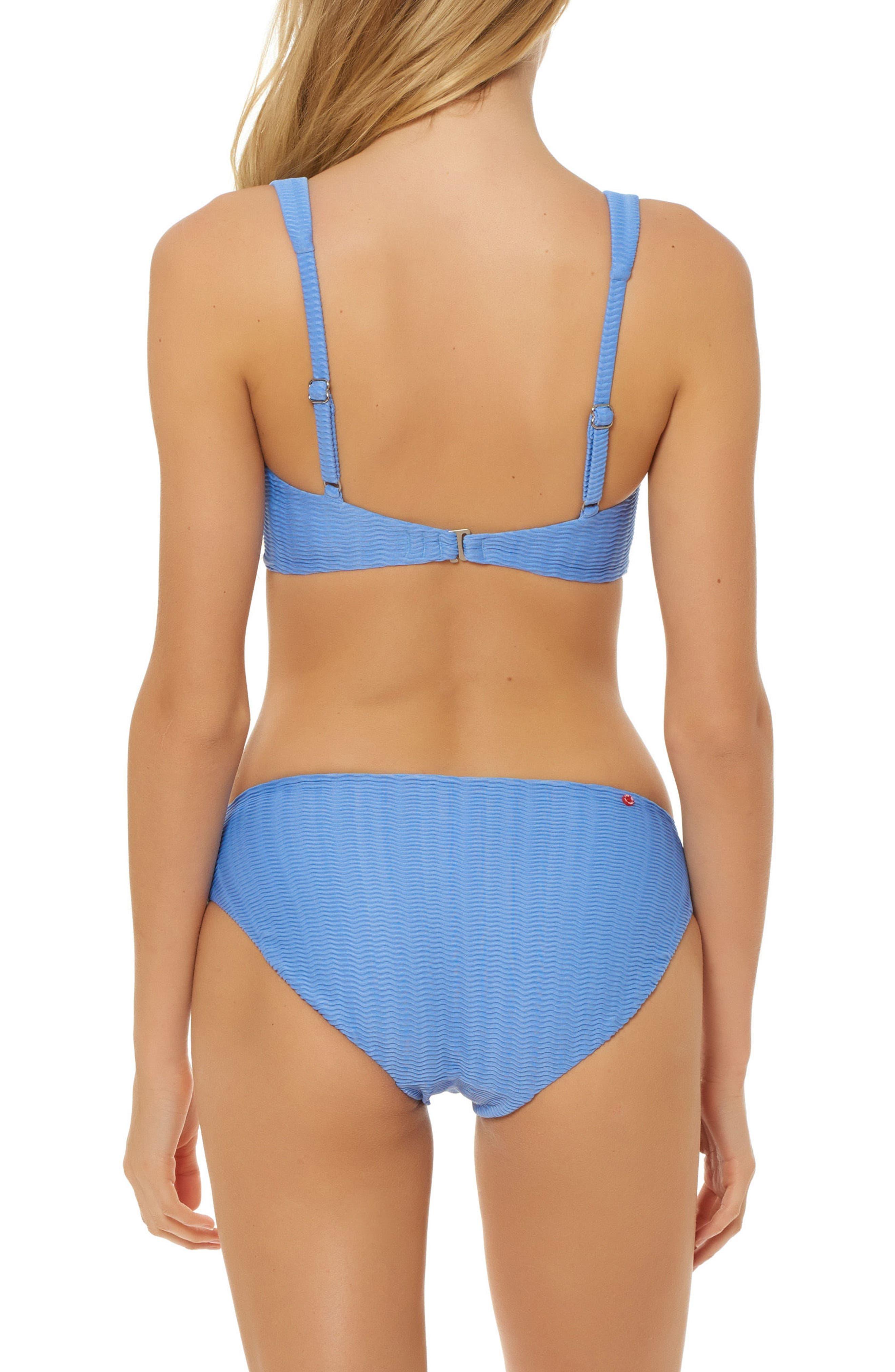 Plunge Bikini Top,                             Alternate thumbnail 4, color,                             Periwinkle