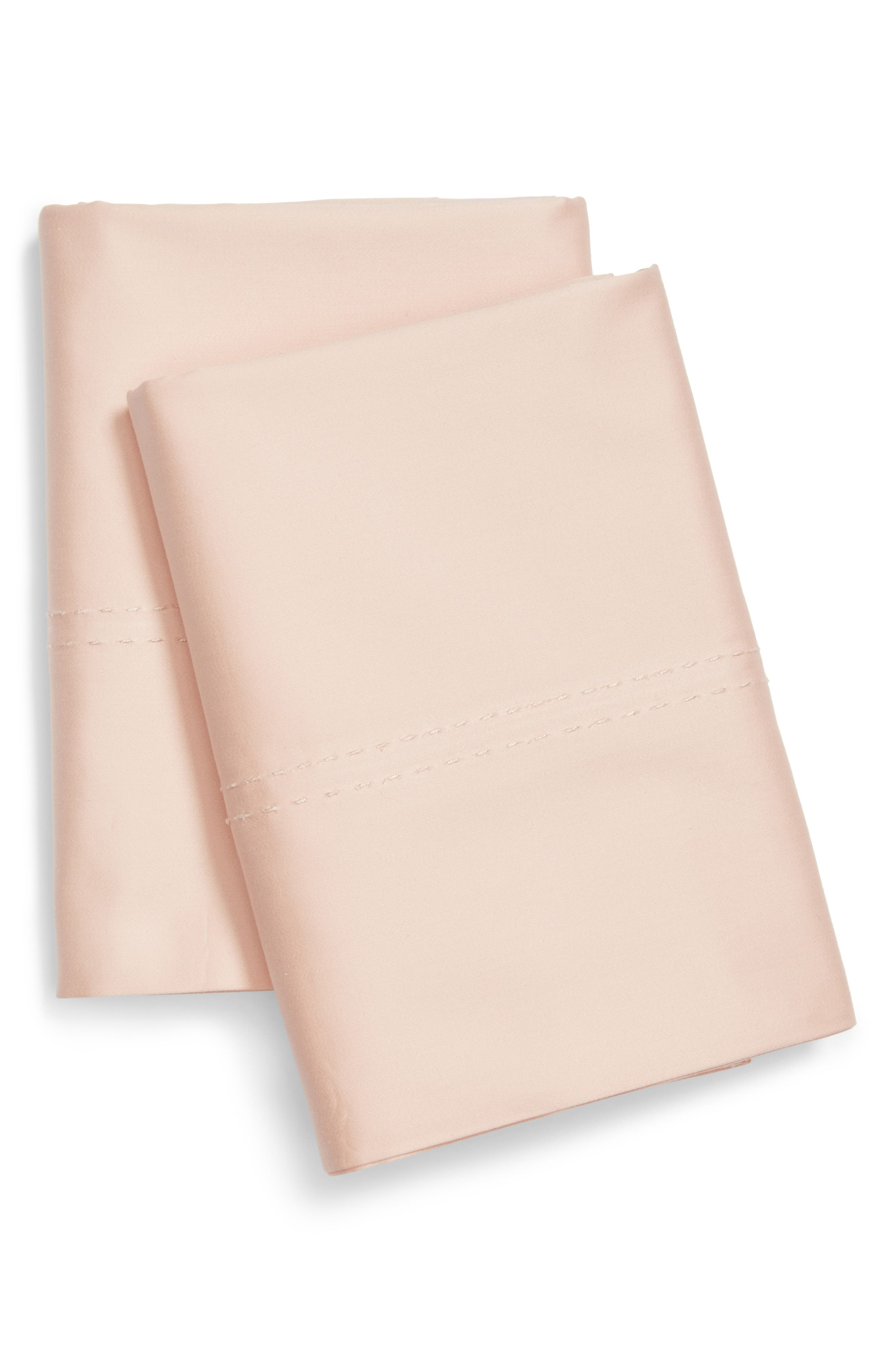 400 Thread Count Organic Cotton Pillowcases,                         Main,                         color, Pink Hero