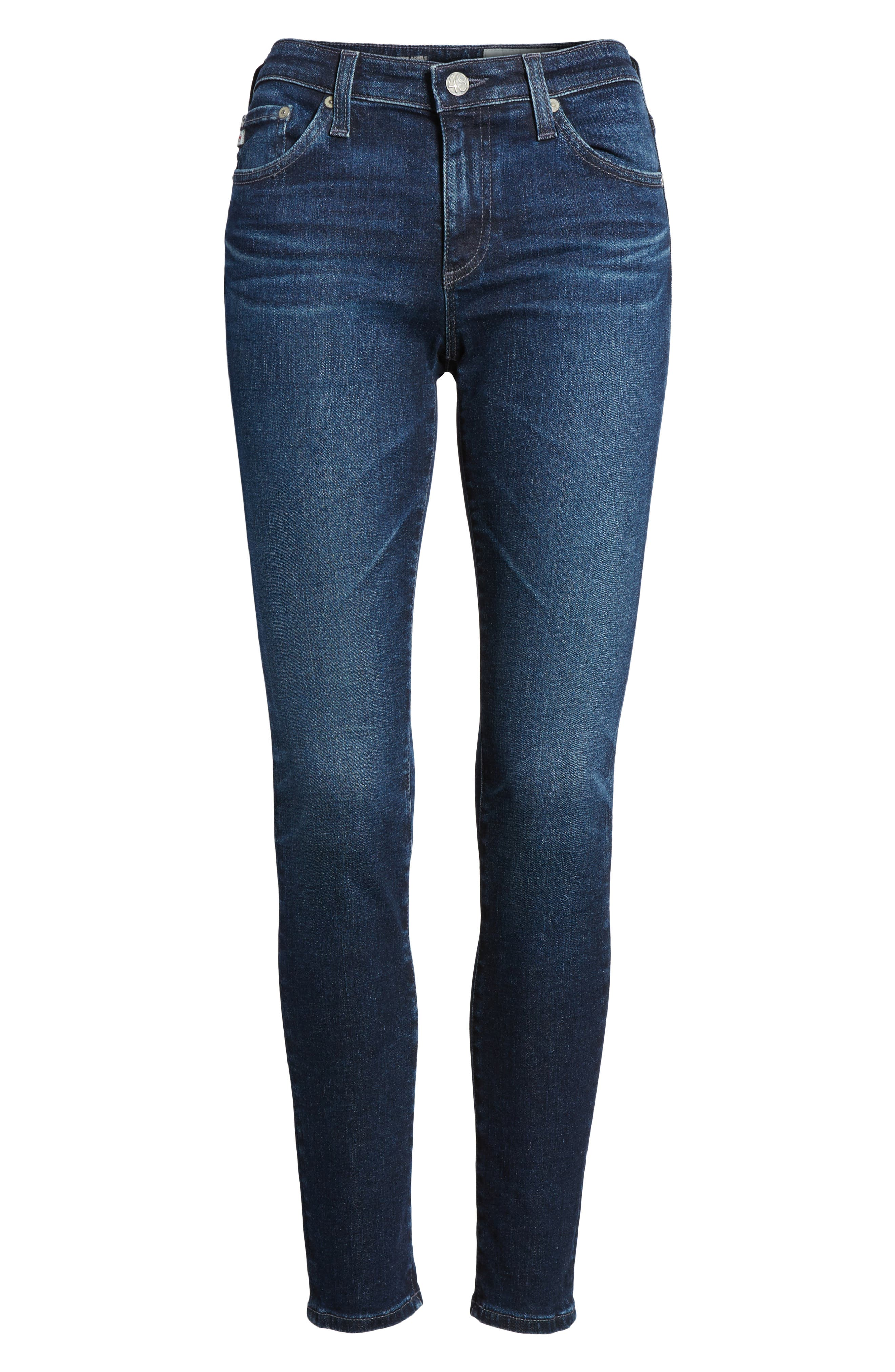 The Legging Ankle Super Skinny Jeans,                             Alternate thumbnail 6, color,                             4 Years-Deep Willows