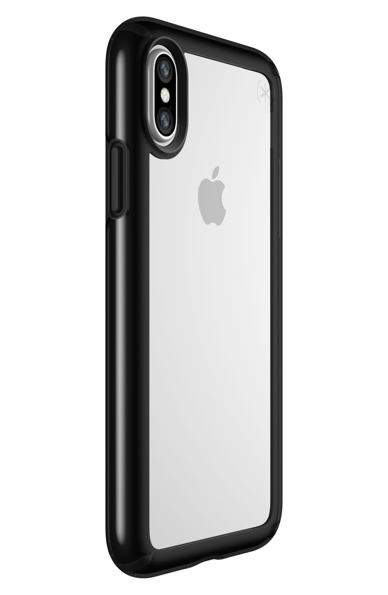 Transparent iPhone X Case,                             Alternate thumbnail 2, color,                             Clear/ Black